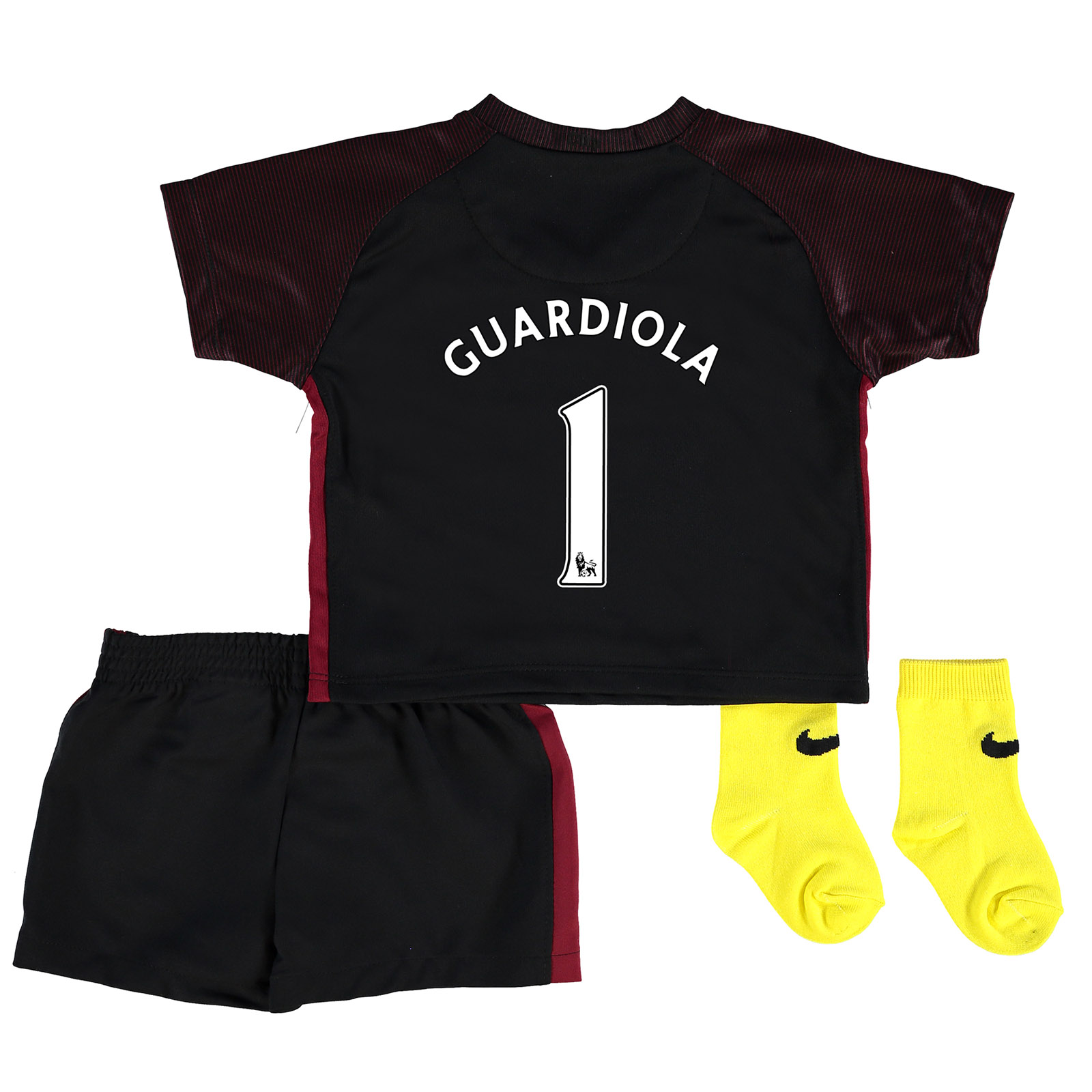 Manchester City Away Stadium Kit 2016-17 - Infants with Guardiola 1 pr