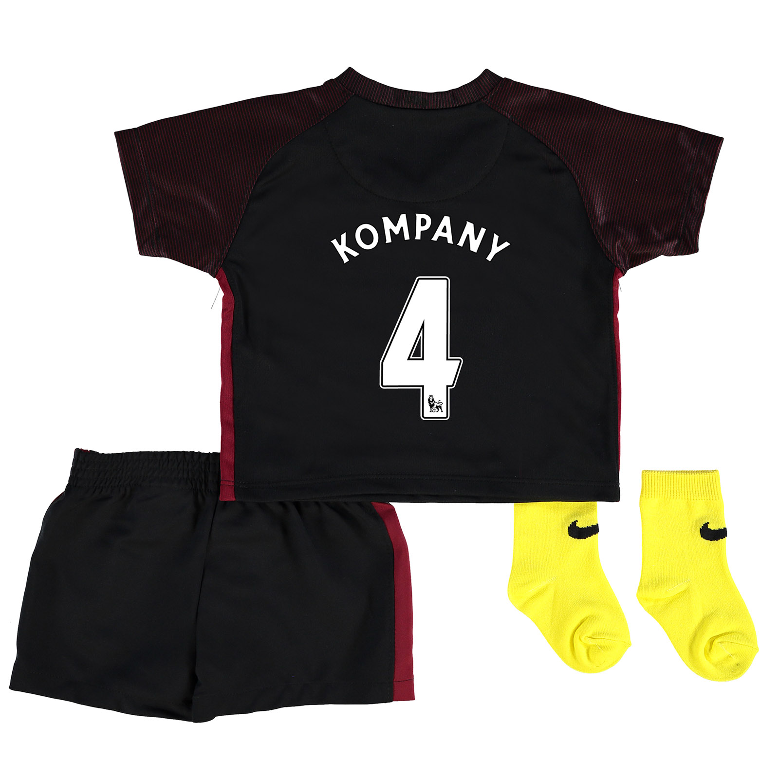 Manchester City Away Stadium Kit 2016-17 - Infants with Kompany 4 prin