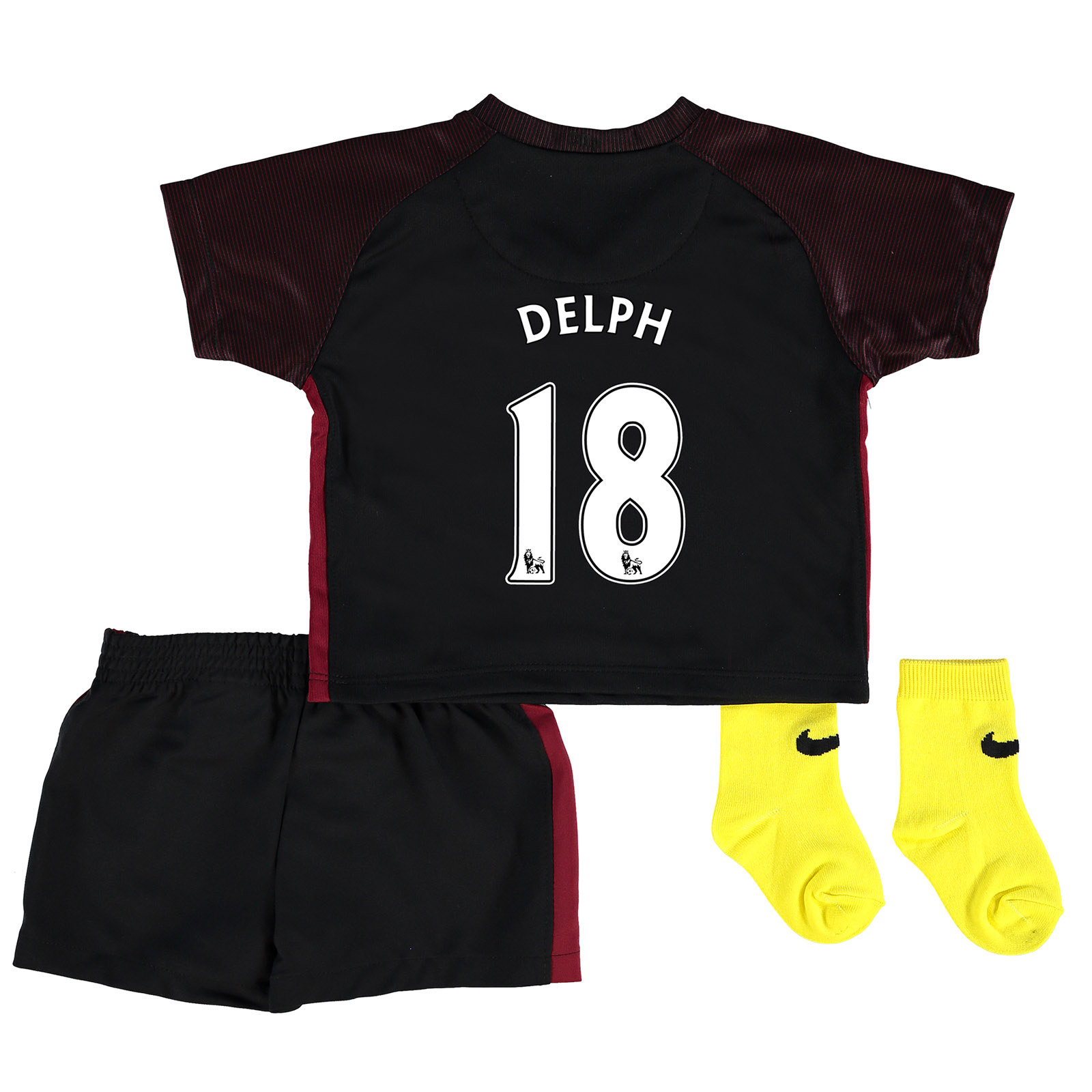 Manchester City Away Stadium Kit 2016-17 - Infants with Delph 18 print