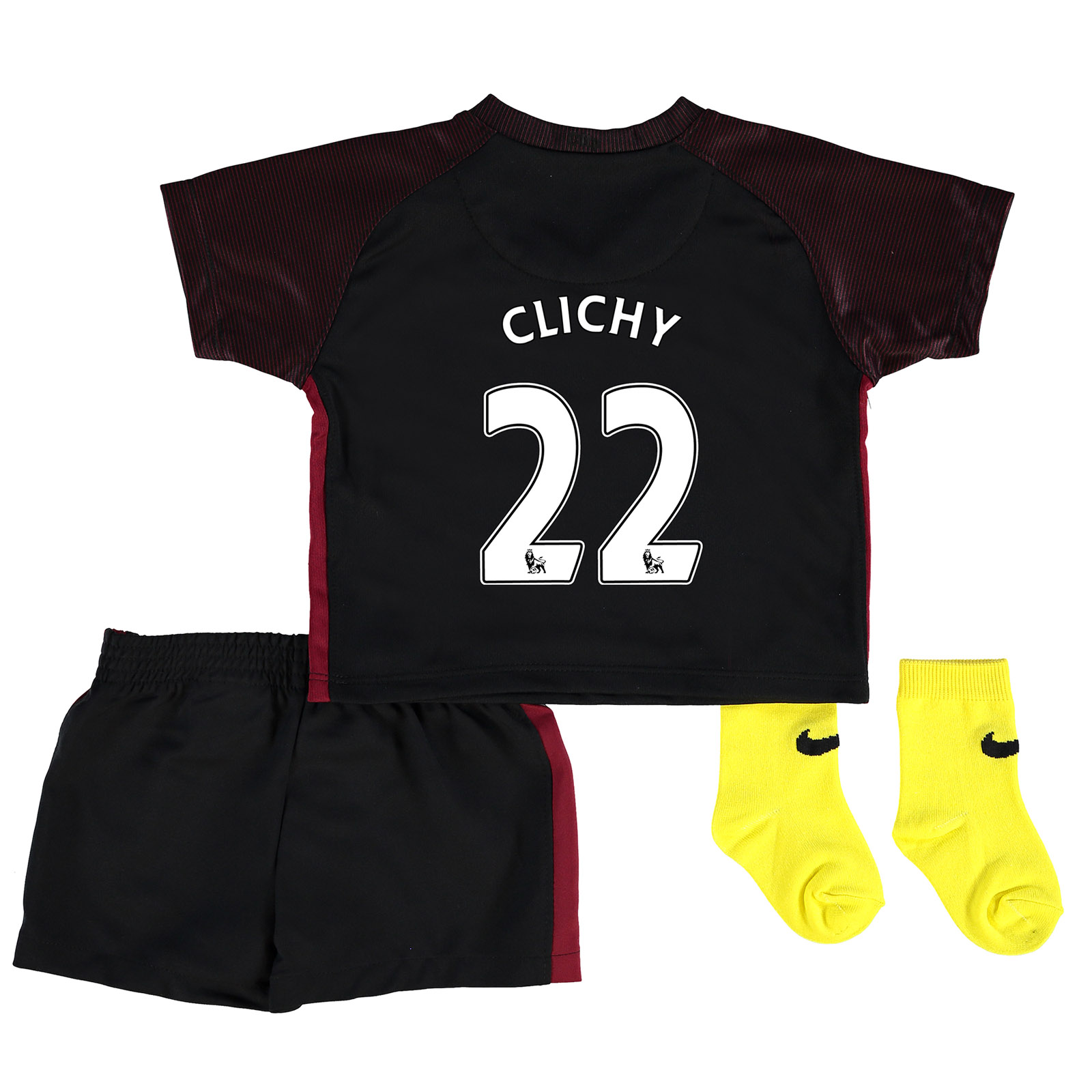 Manchester City Away Stadium Kit 2016-17 - Infants with Clichy 22 prin