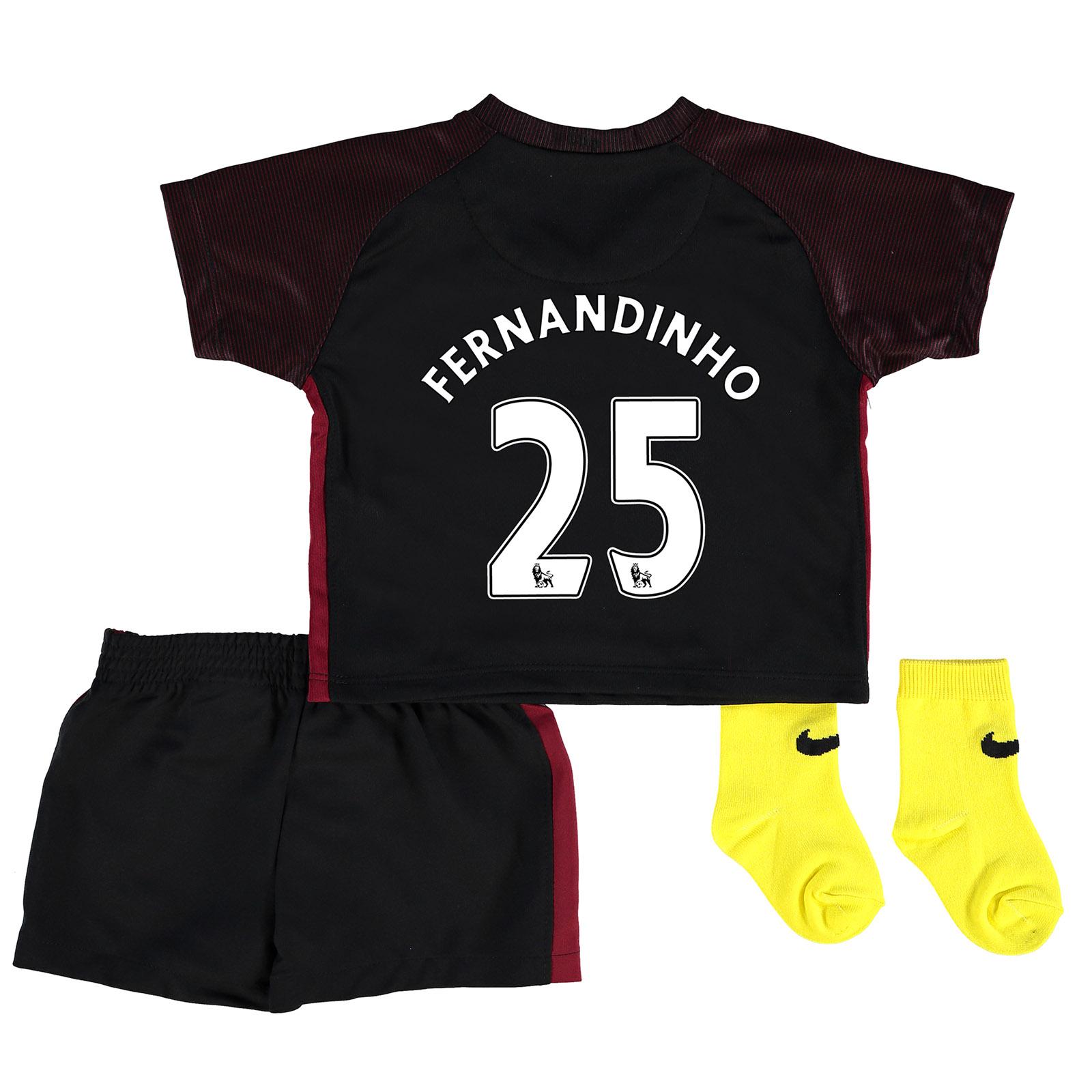 Manchester City Away Stadium Kit 2016-17 - Infants with Fernandinho 25