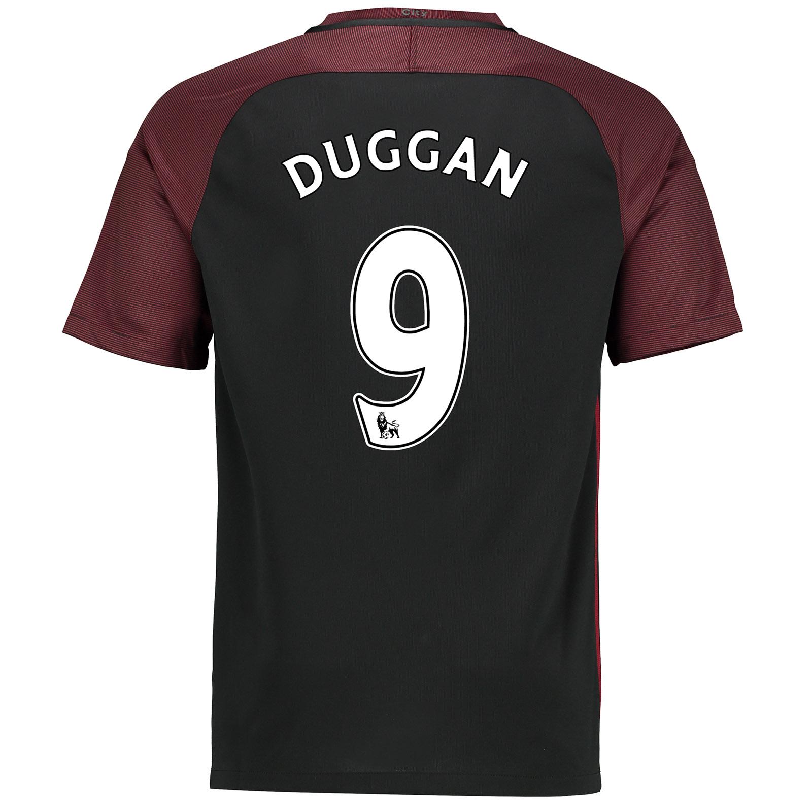 Manchester City Away Stadium Shirt 2016-17 with Duggan 9 printing