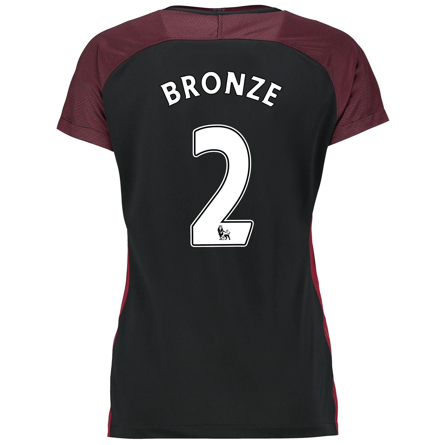 Manchester City Away Stadium Shirt 2016-17-Womens with Bronze 2 printi