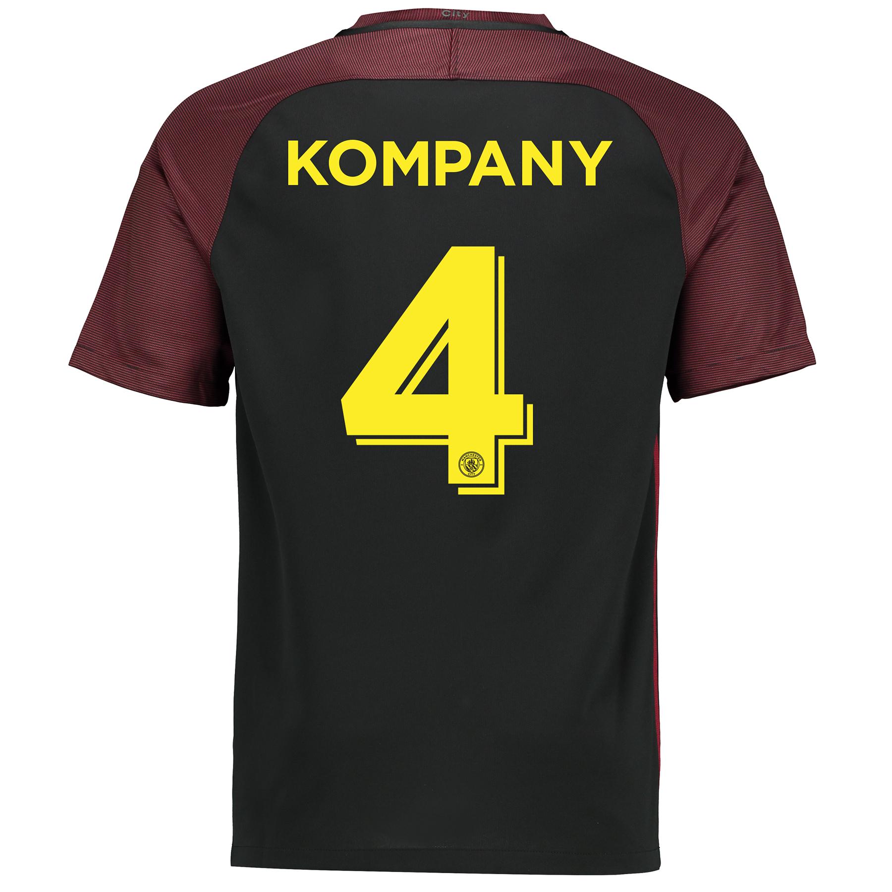 Manchester City Away Cup Vapor Match Shirt 2016-17 with Kompany 4 prin