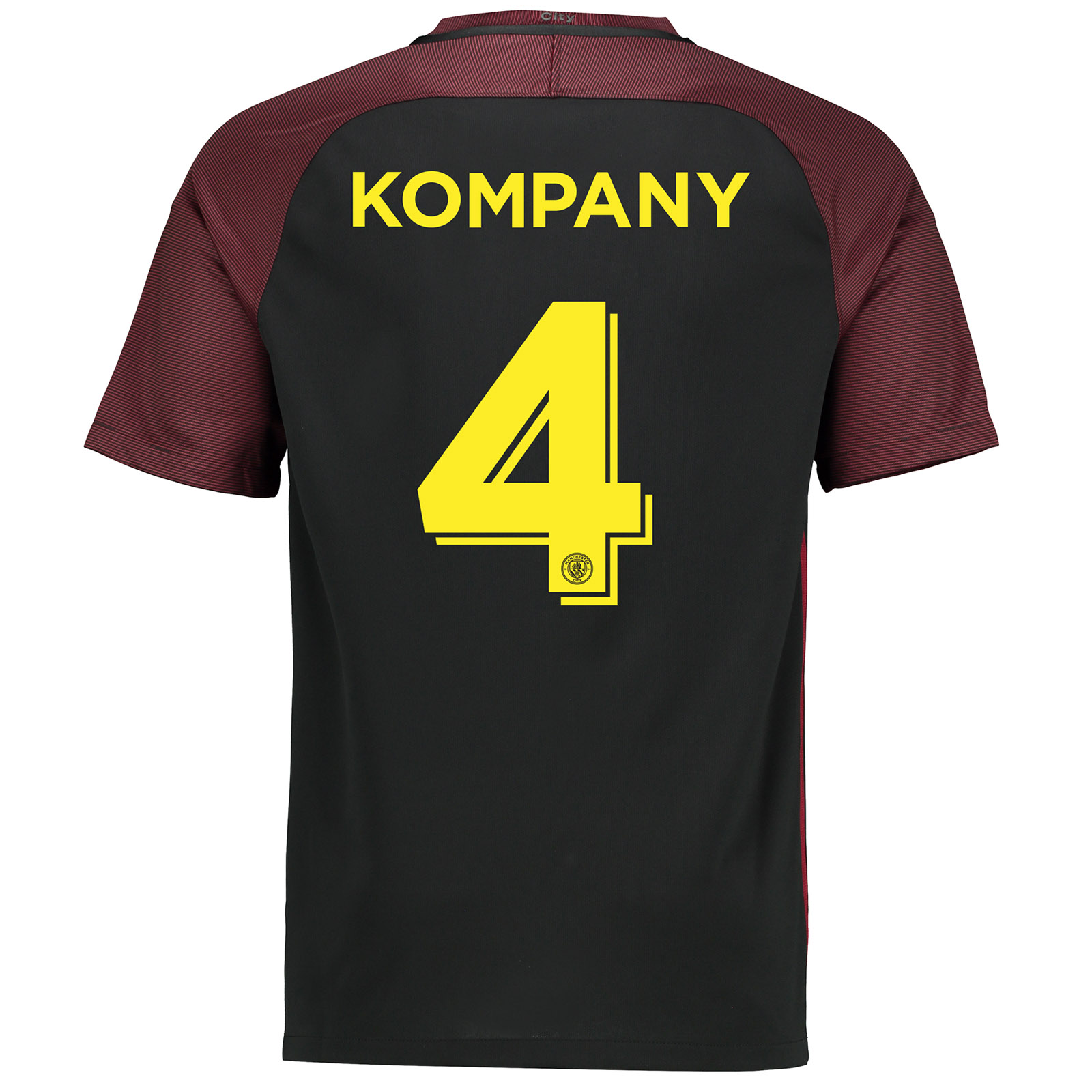 Manchester City Away Cup Stadium Shirt 2016-17 with Kompany 4 printing