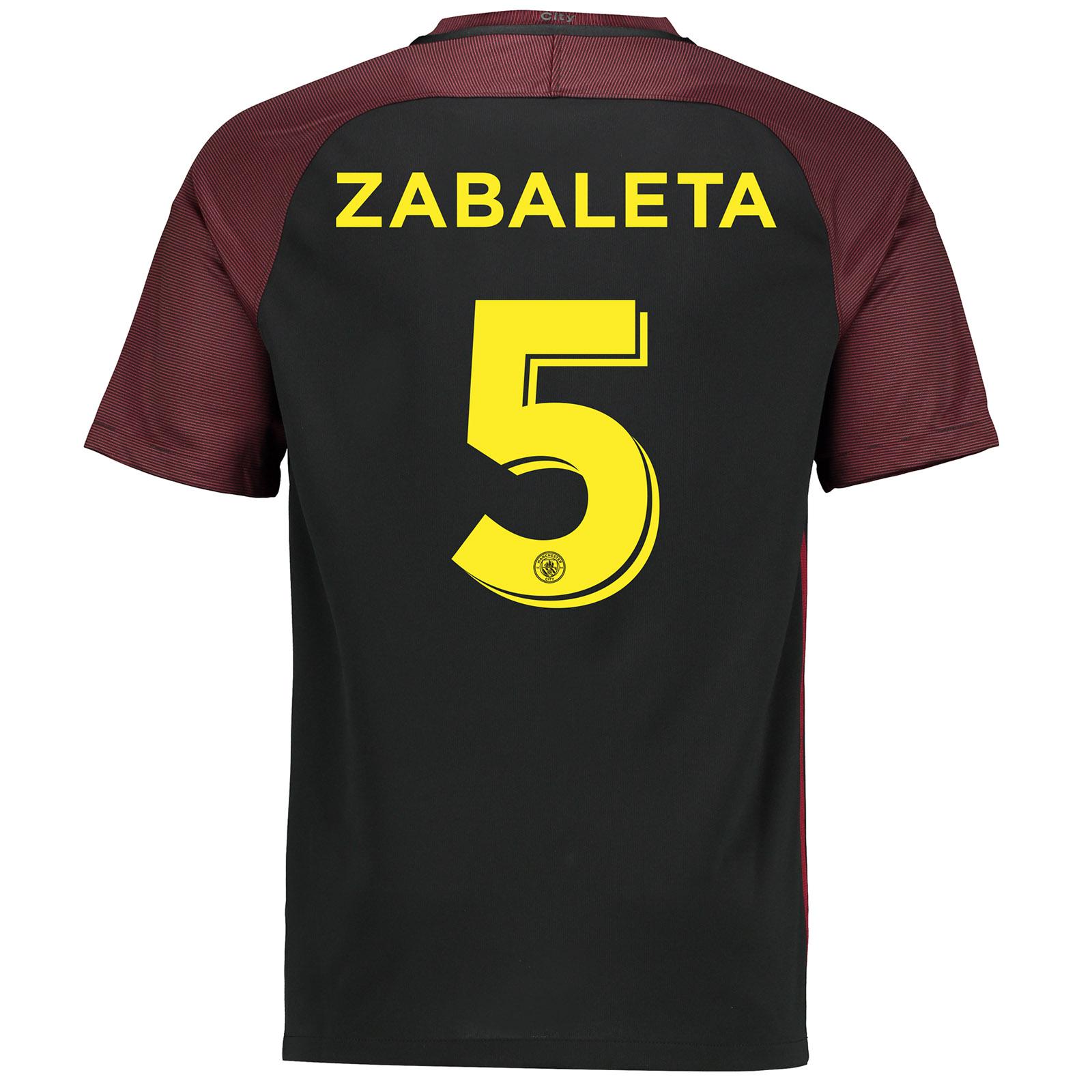 Manchester City Away Cup Stadium Shirt 2016-17 with Zabaleta 5 printin