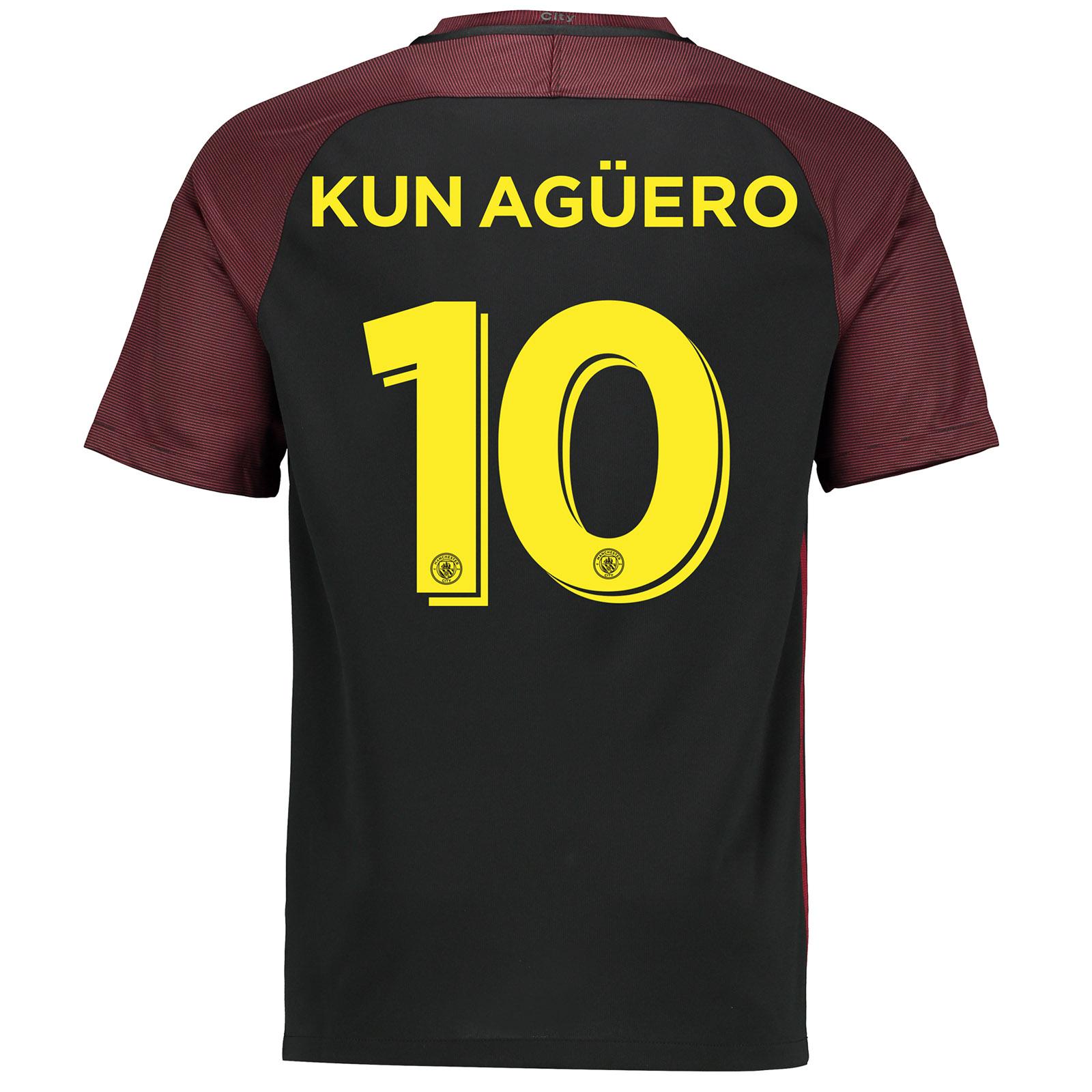 Manchester City Away Cup Stadium Shirt 2016-17 with Kun Ag??ero  10 pri