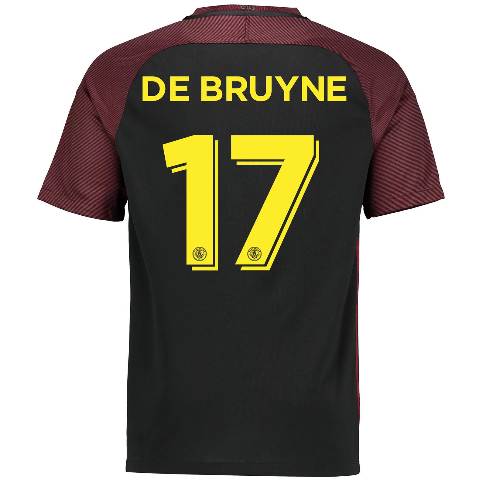 Manchester City Away Cup Stadium Shirt 2016-17 with De Bruyne 17 print