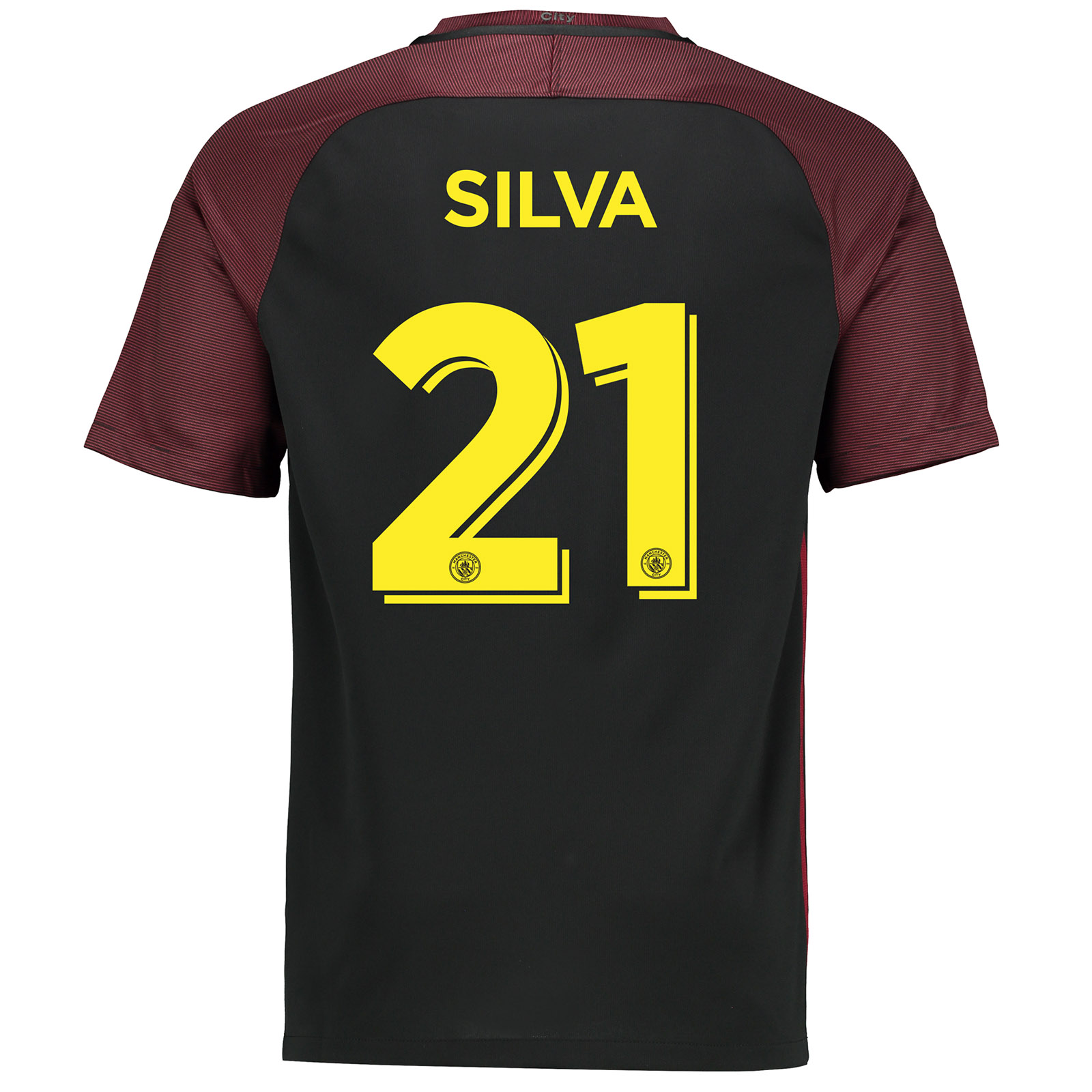 Manchester City Away Cup Stadium Shirt 2016-17 with Silva 21 printing