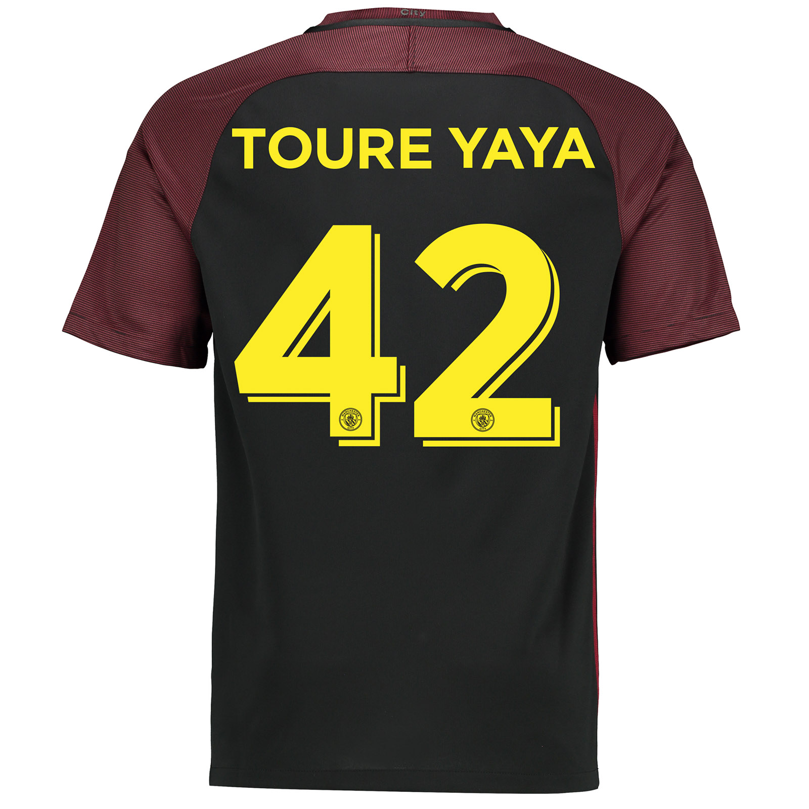 Manchester City Away Cup Stadium Shirt 2016-17 with Toure Yaya 42 prin