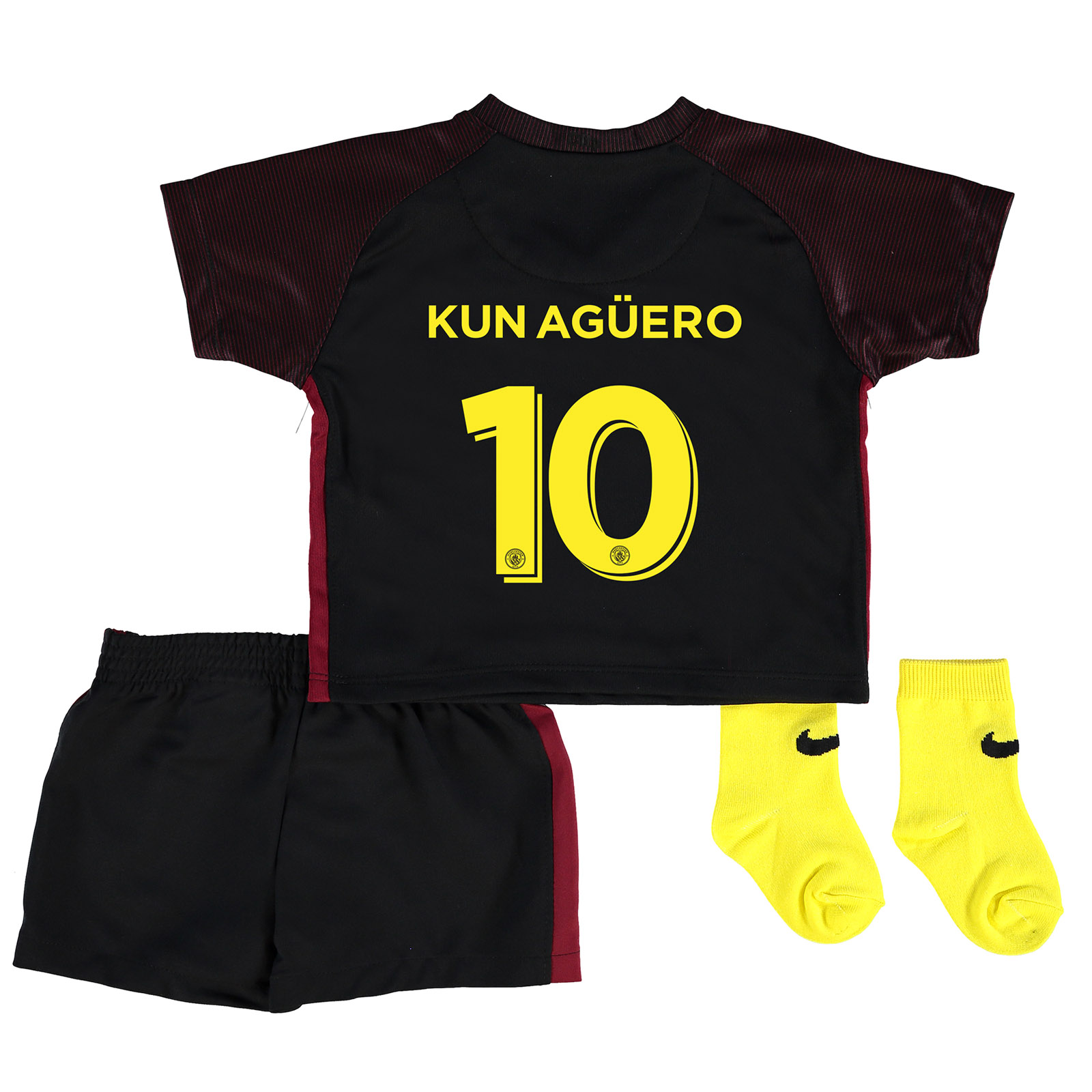 Manchester City Away Cup Stadium Kit 2016-17 - Infants with Kun Ag??ero