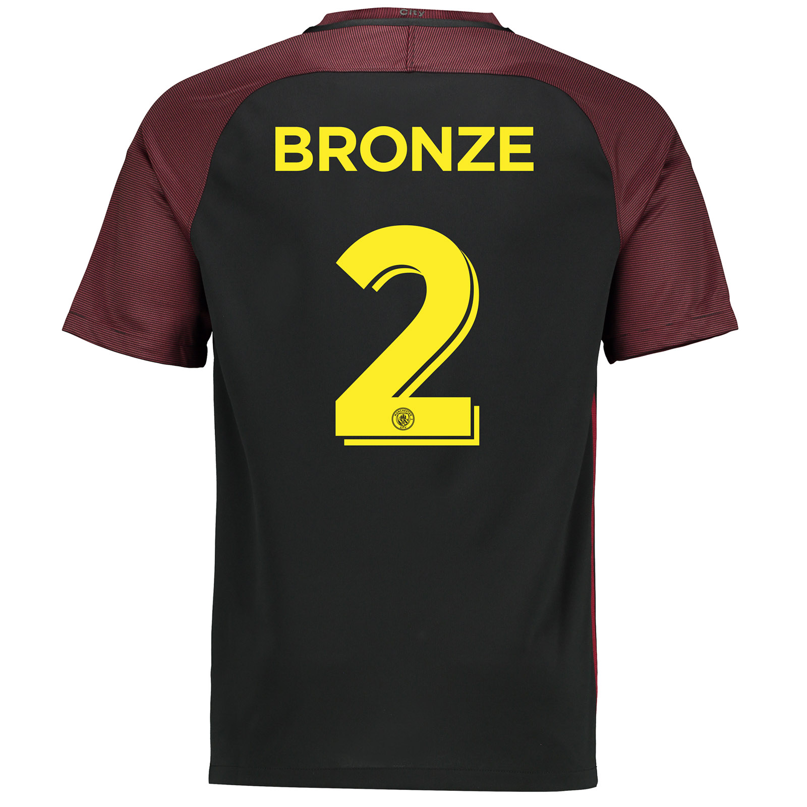 Manchester City Away Cup Stadium Shirt 2016-17 with Bronze 2 printing