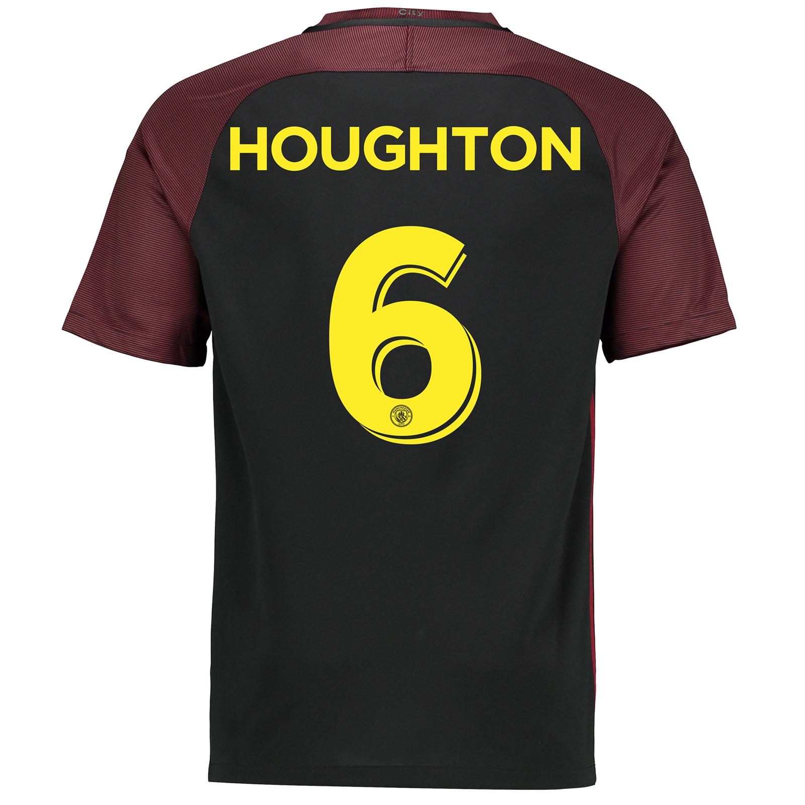 Manchester City Away Cup Stadium Shirt 2016-17 with Houghton 6 printin