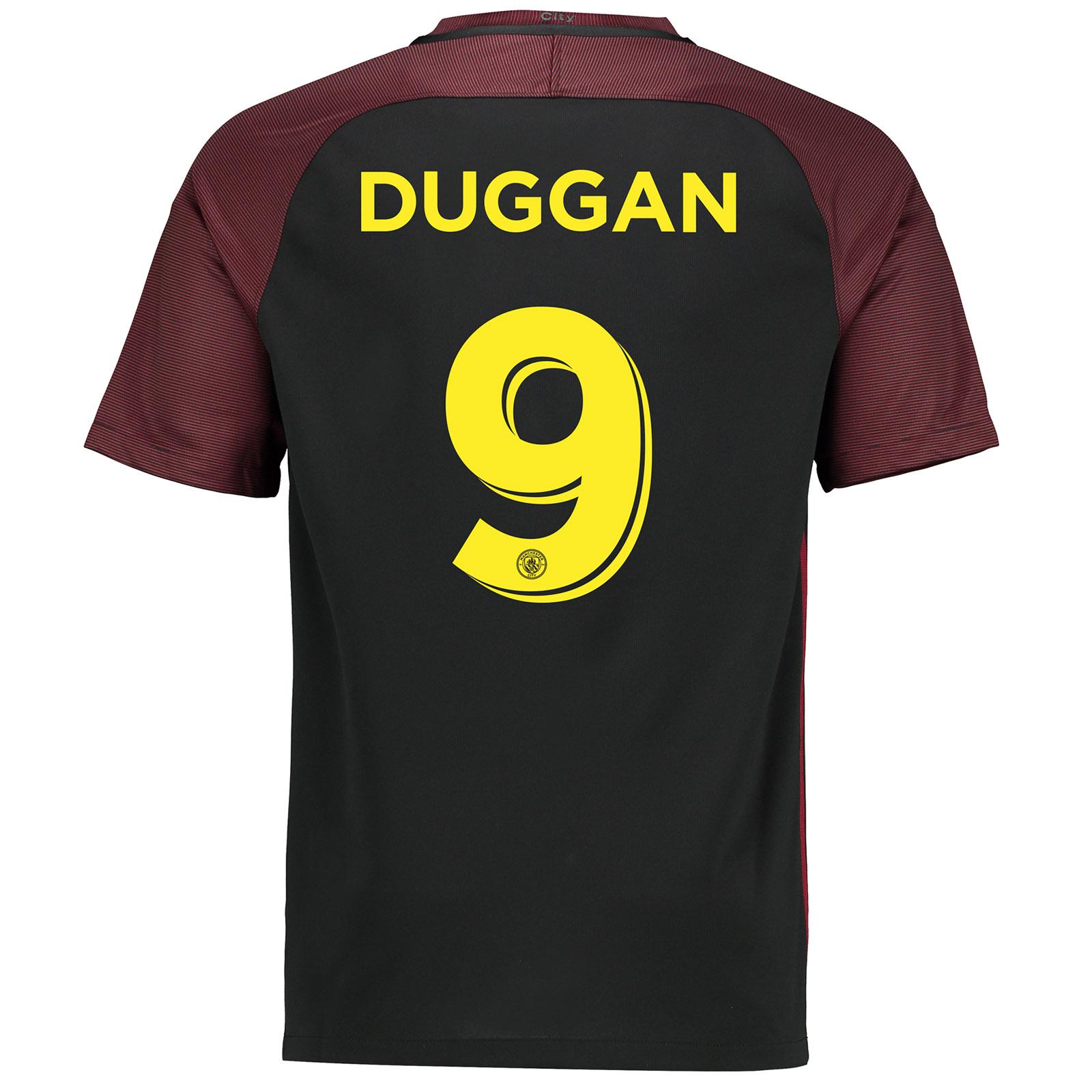 Manchester City Away Cup Stadium Shirt 2016-17 with Duggan 9 printing