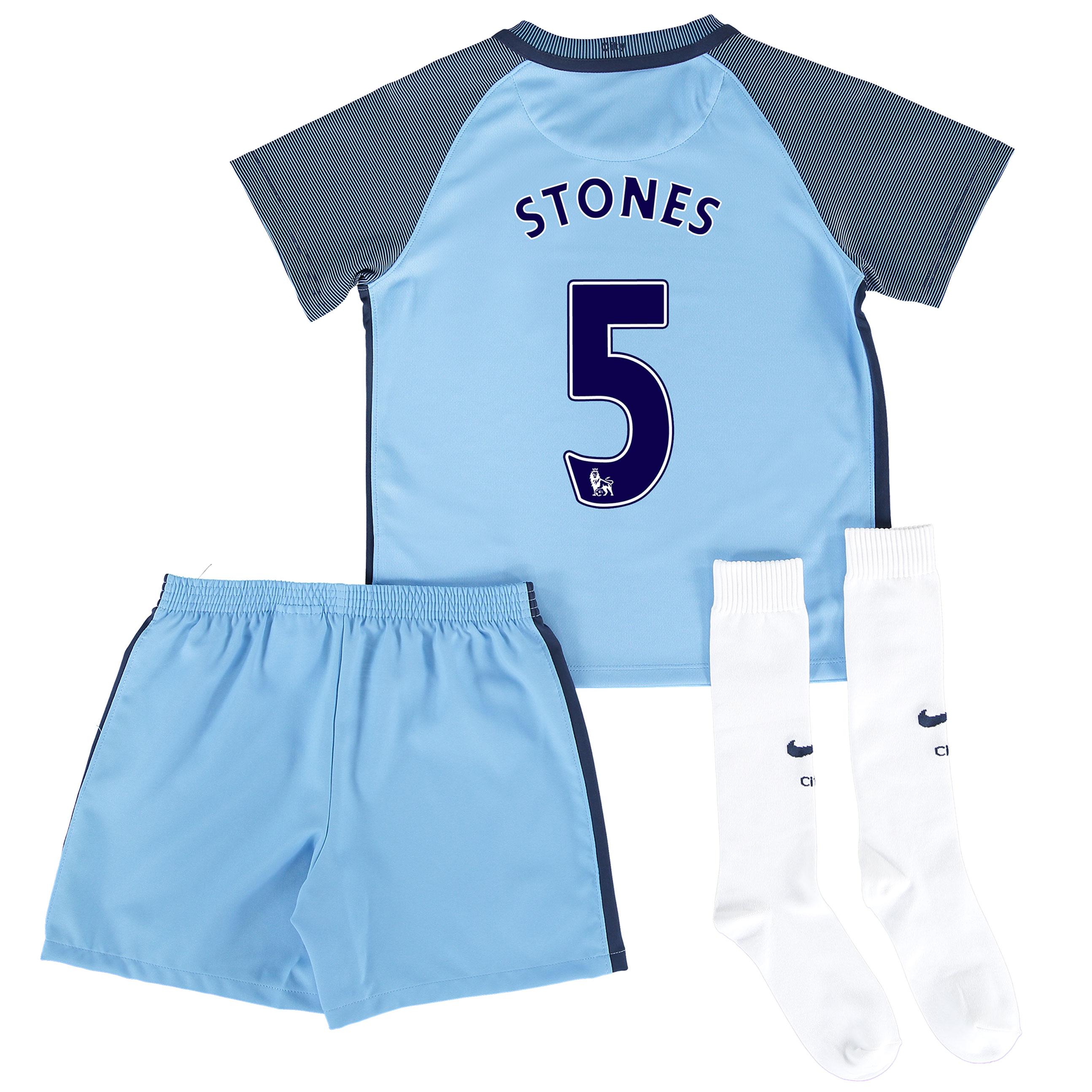 Manchester City Home Stadium Kit 2016-17 - Little Kids with Stones 24