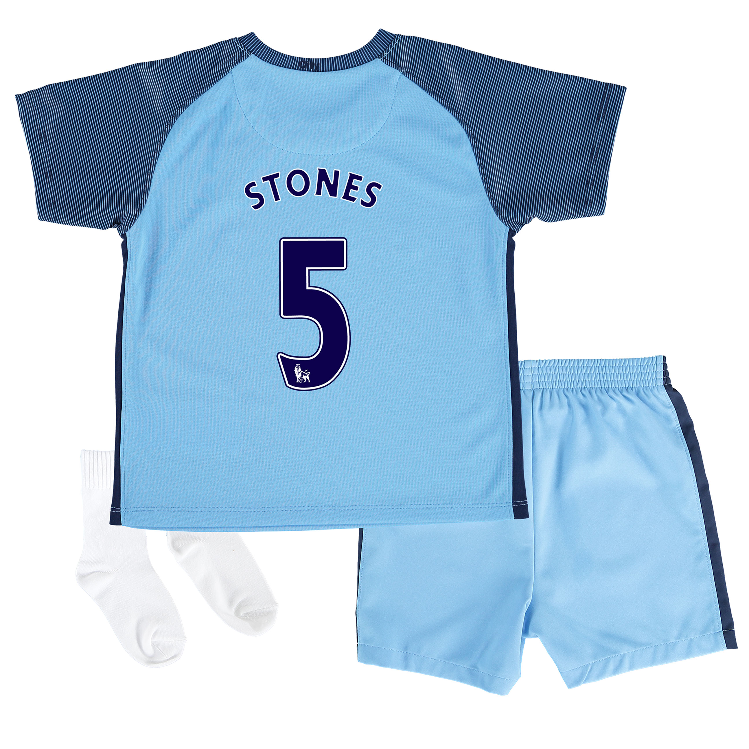 Manchester City Home Stadium Kit 2016-17 - Infants with Stones 24 prin
