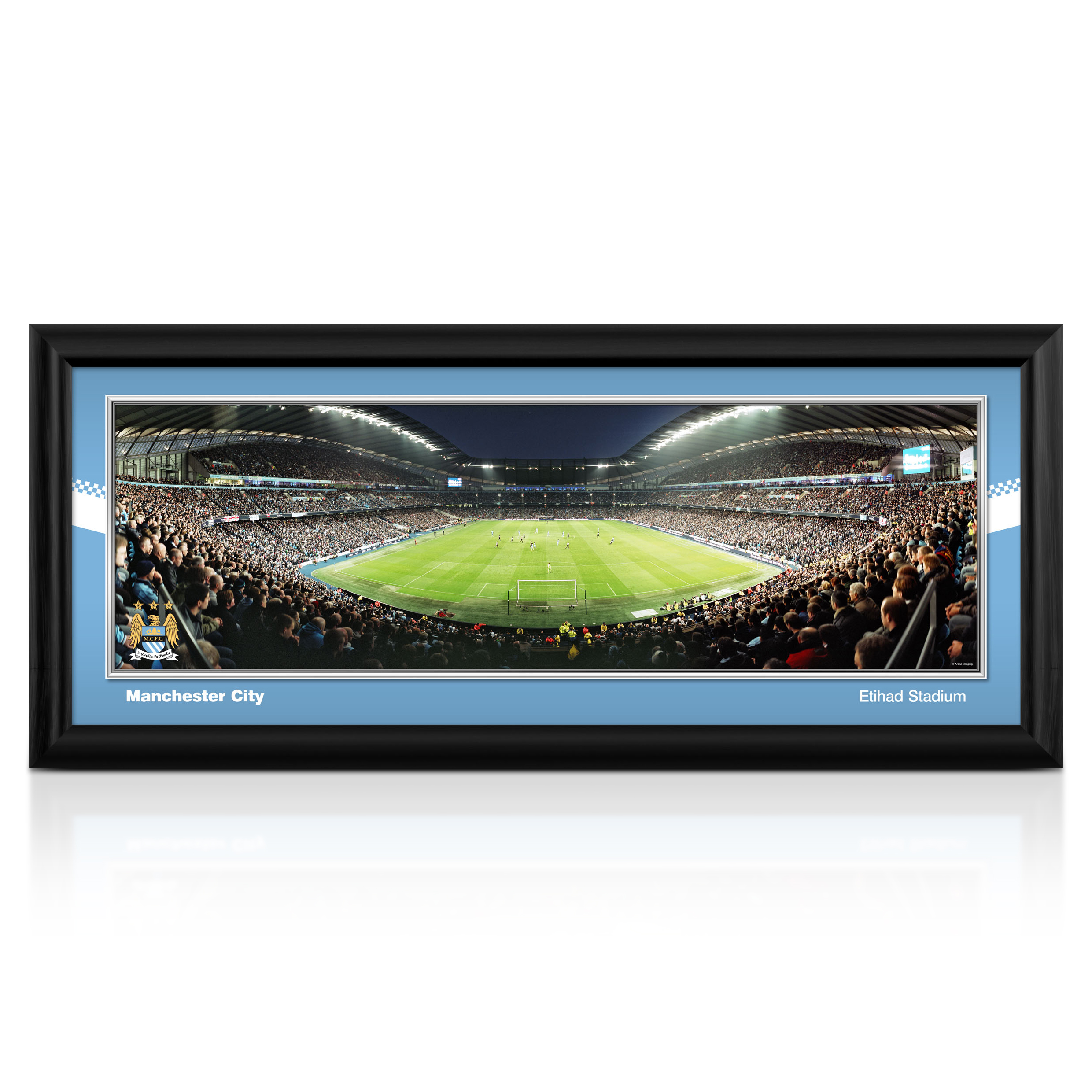 Manchester City 30 Matchday Night Stadium Panoramic