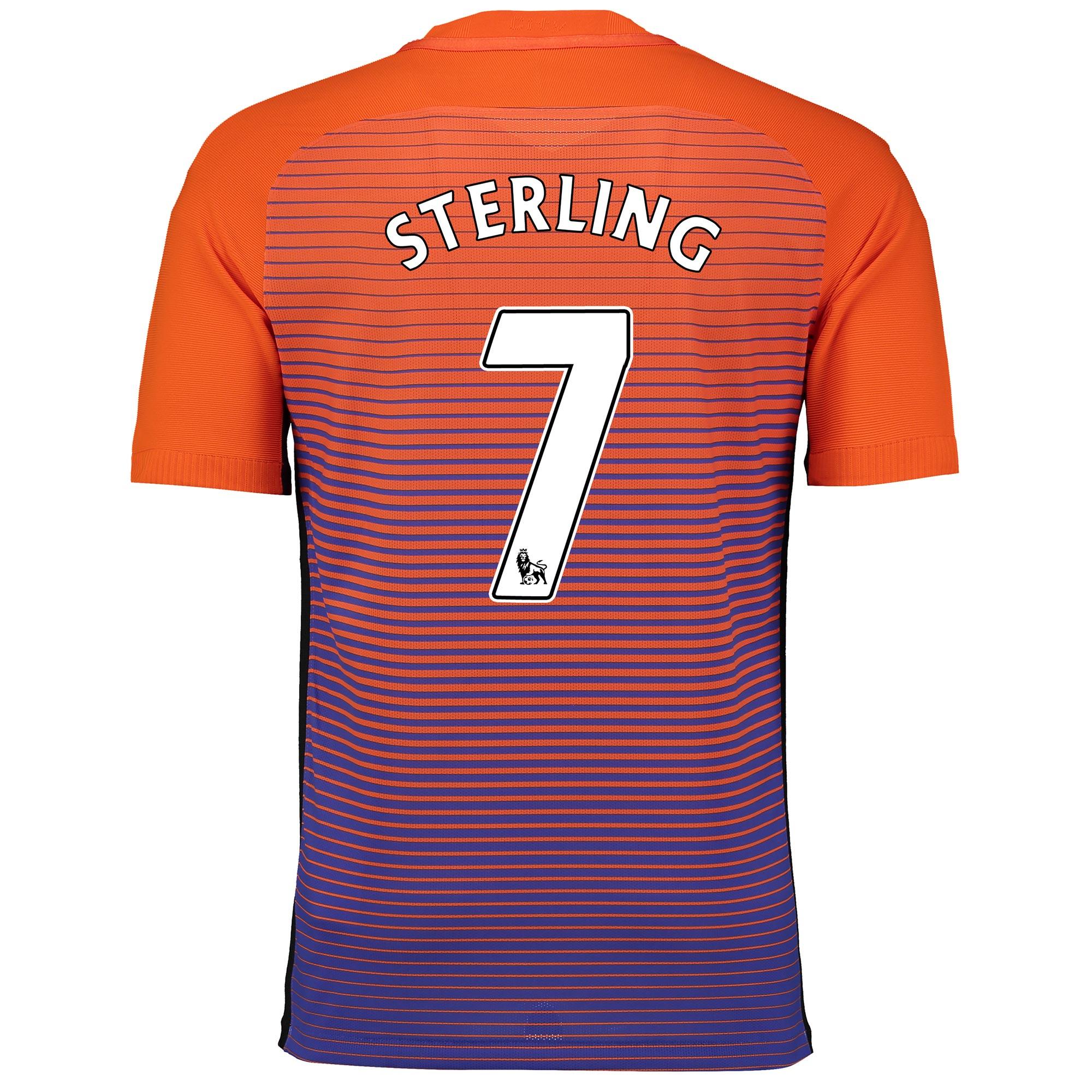 Manchester City Third Vapor Match Shirt 2016-17 with Sterling 7 printi