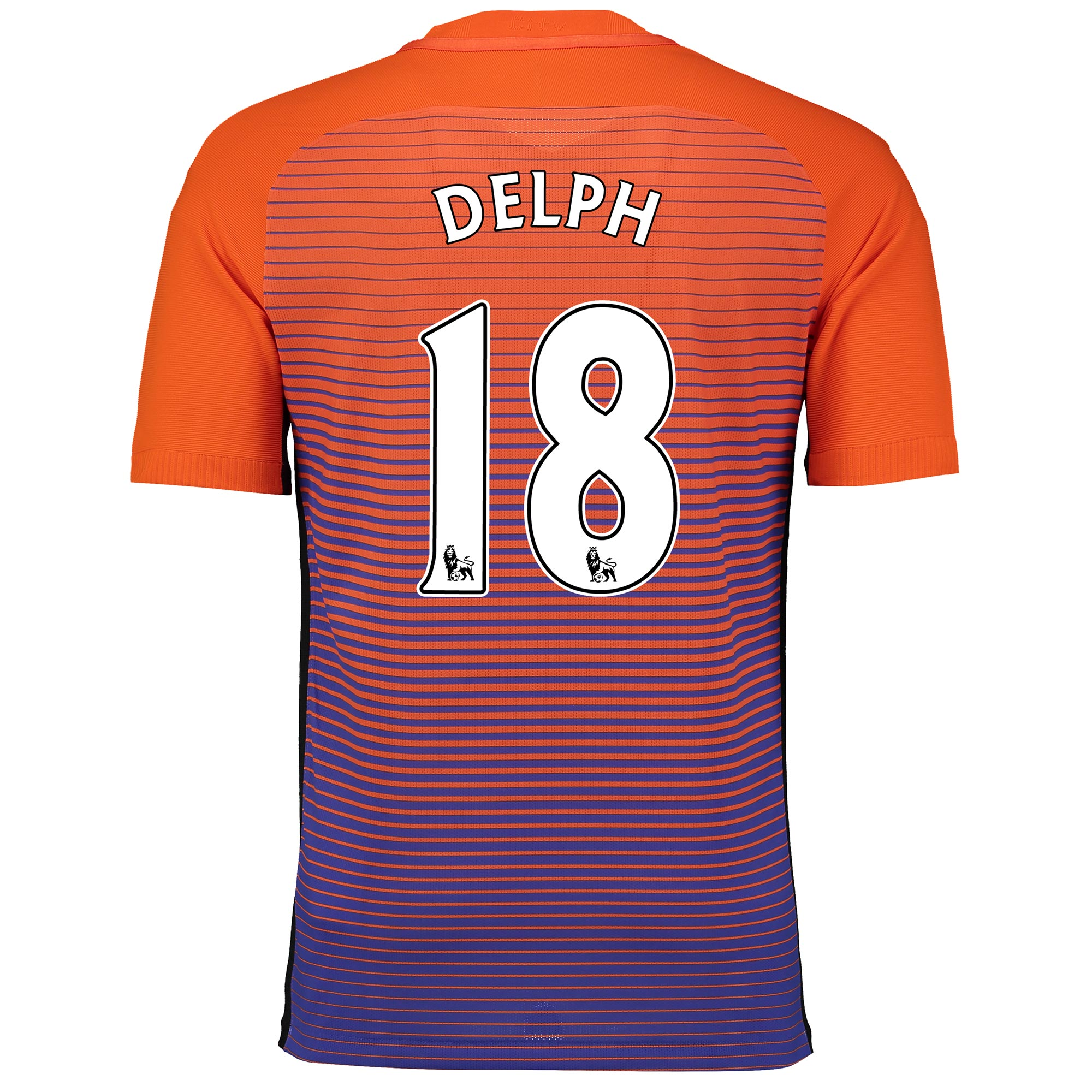 Manchester City Third Vapor Match Shirt 2016-17 with Delph 18 printing