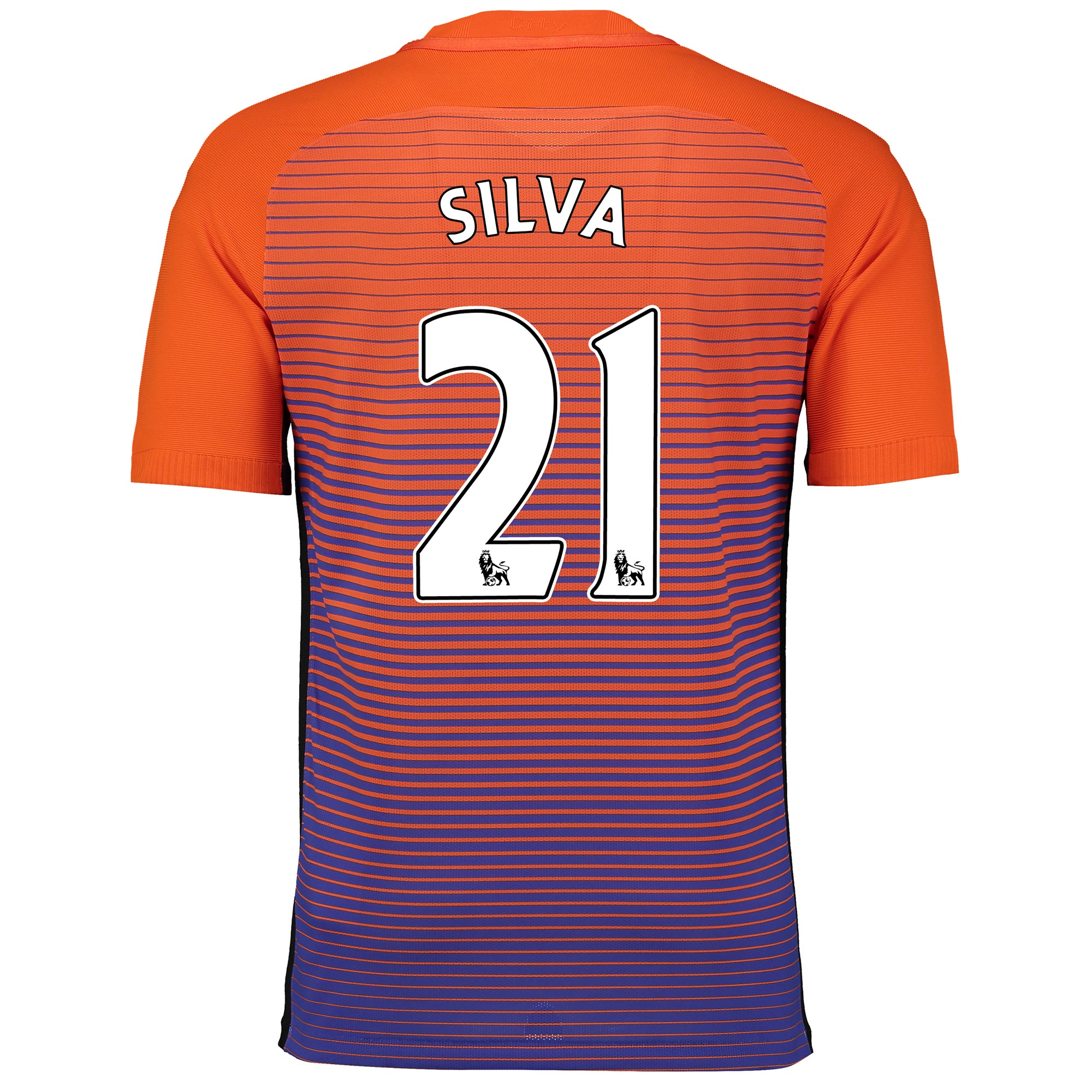 Manchester City Third Vapor Match Shirt 2016-17 with Silva 21 printing