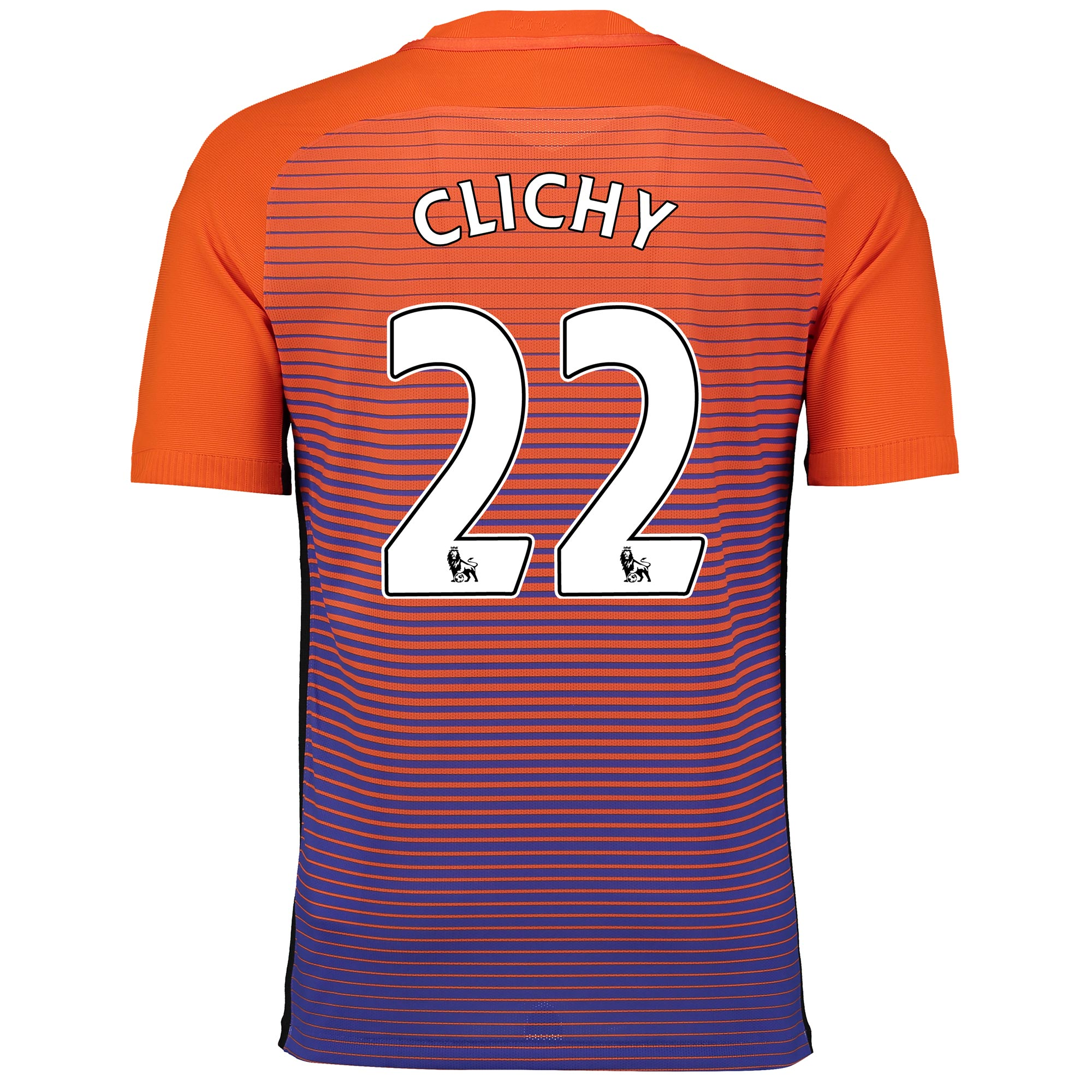 Manchester City Third Vapor Match Shirt 2016-17 with Clichy 22 printin