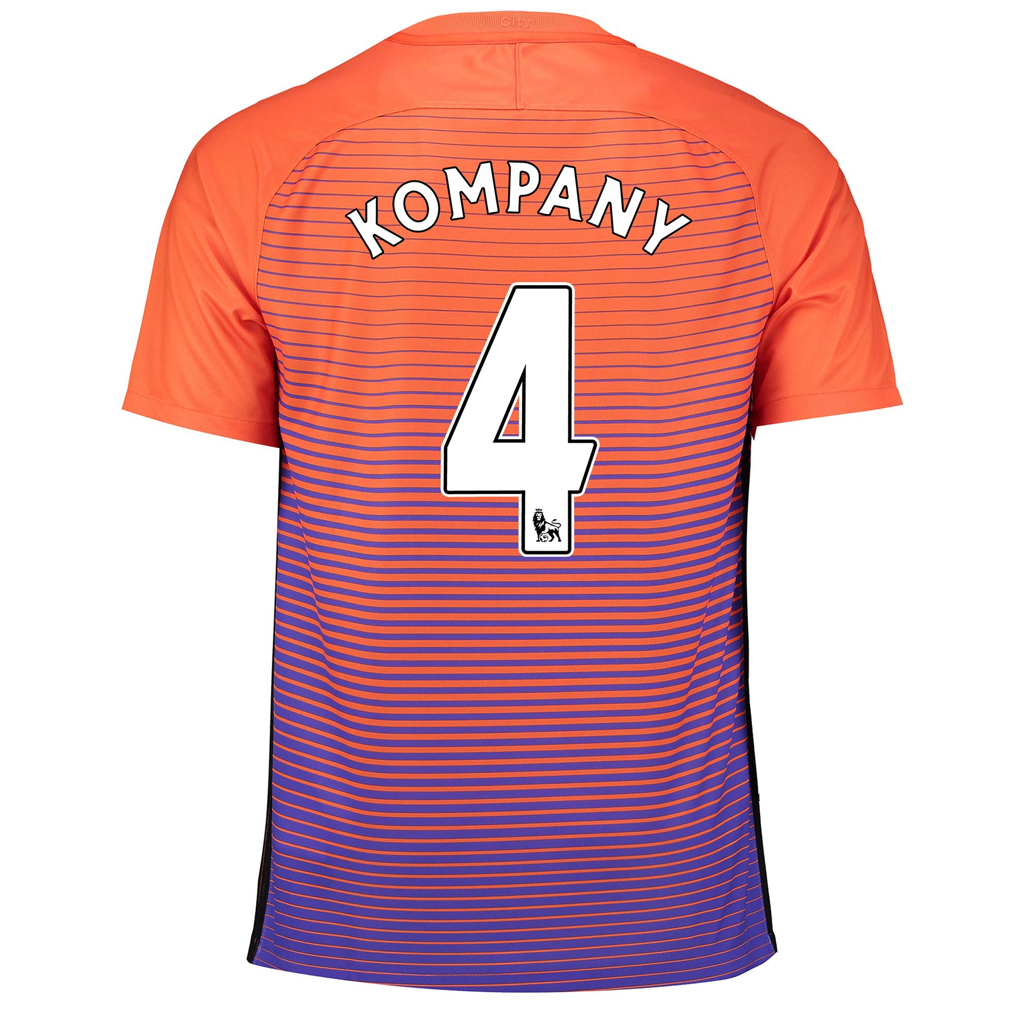 Manchester City Third Stadium Shirt 2016-17 with Kompany 4 printing