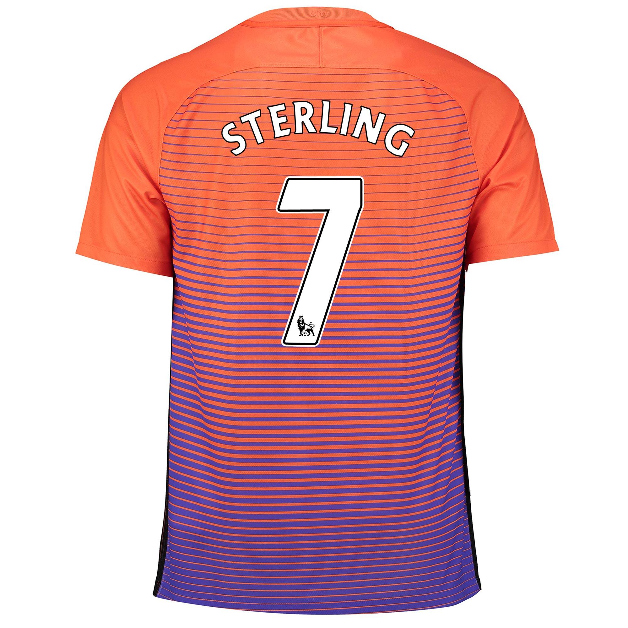 Manchester City Third Stadium Shirt 2016-17 with Sterling 7 printing