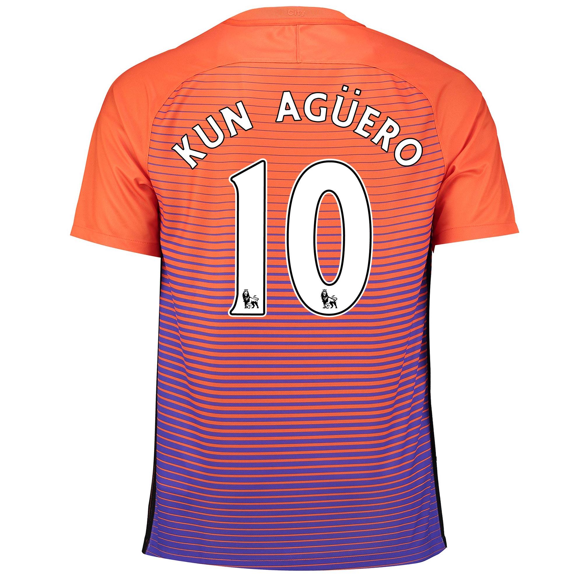 Manchester City Third Stadium Shirt 2016-17 with Kun Ag??ero  10 printi