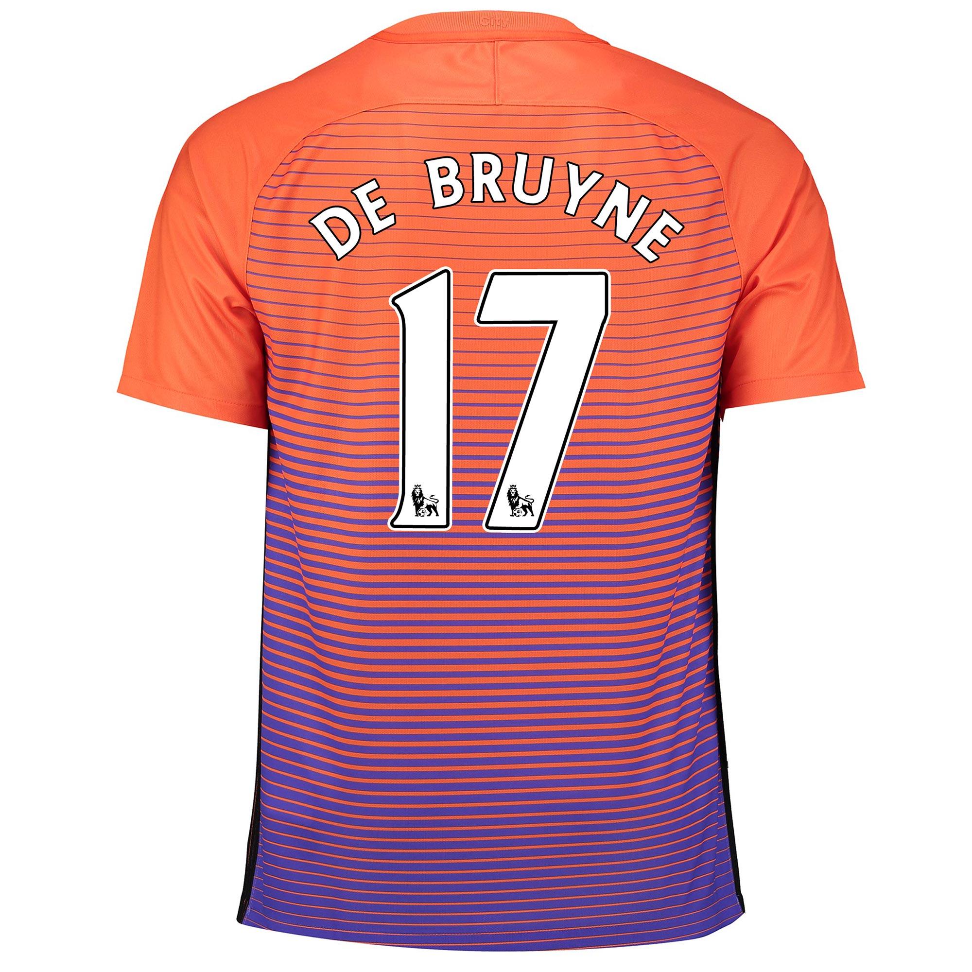 Manchester City Third Stadium Shirt 2016-17 with De Bruyne 17 printing