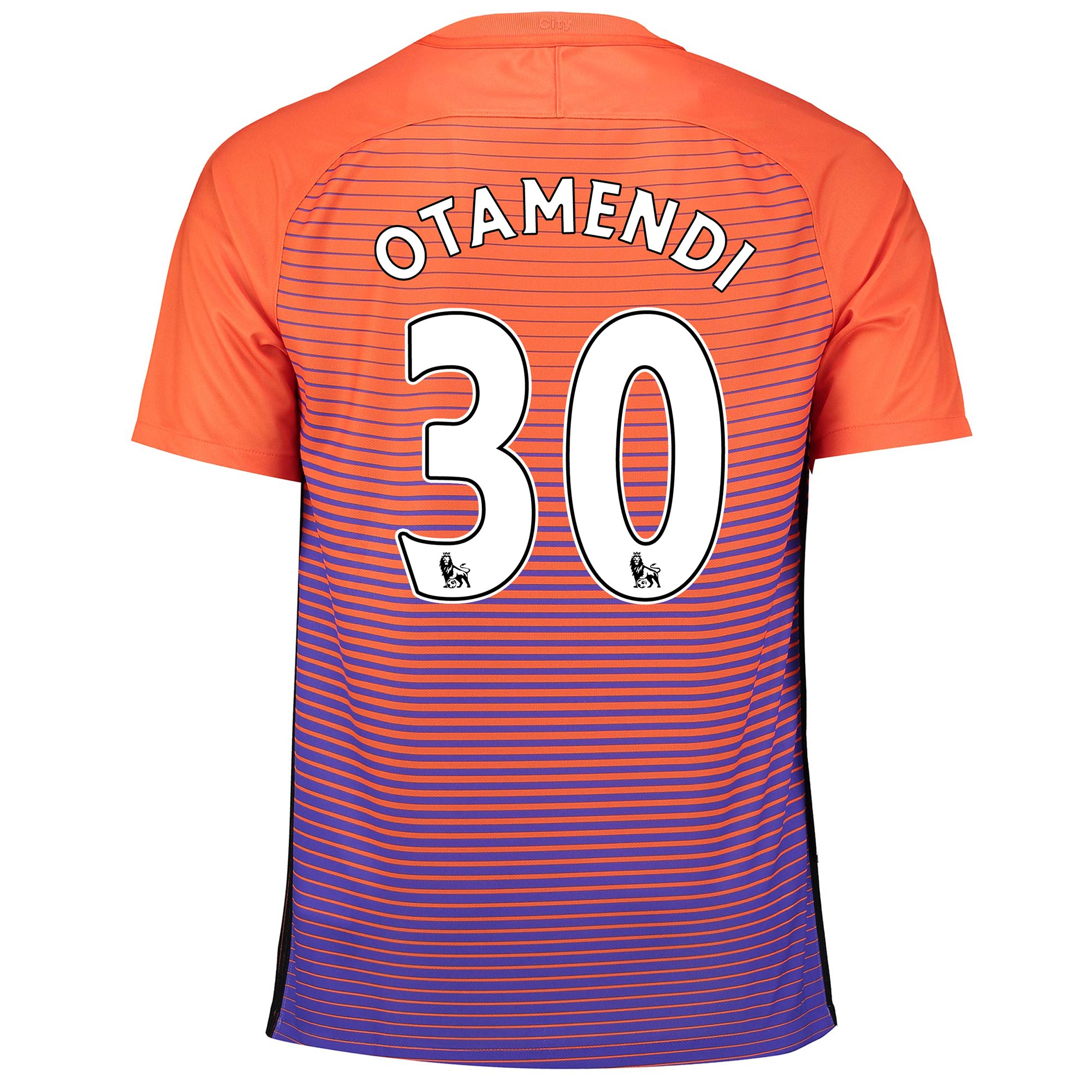 Manchester City Third Stadium Shirt 2016-17 with Otamendi 30 printing