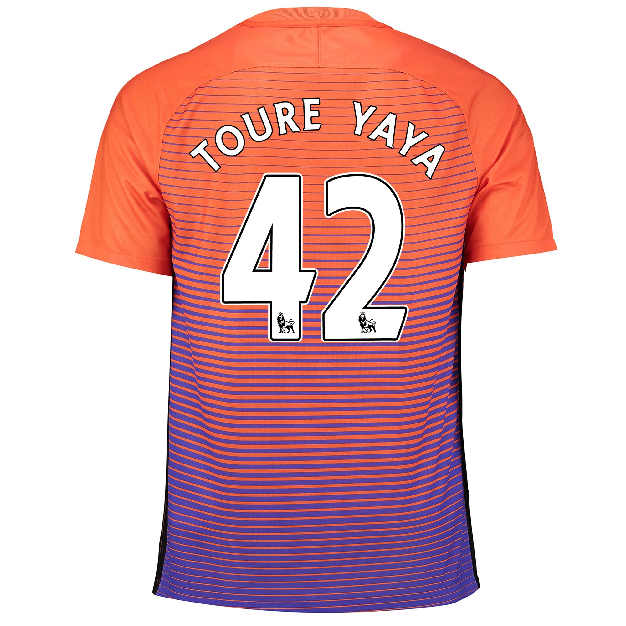 Manchester City Third Stadium Shirt 2016-17 with Toure Yaya 42 printin