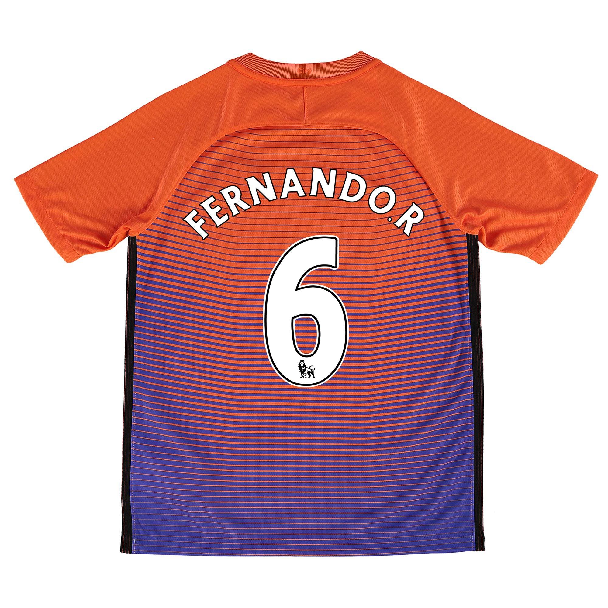 Manchester City Third Stadium Shirt 2016-17 - Kids with Fernando. R 6