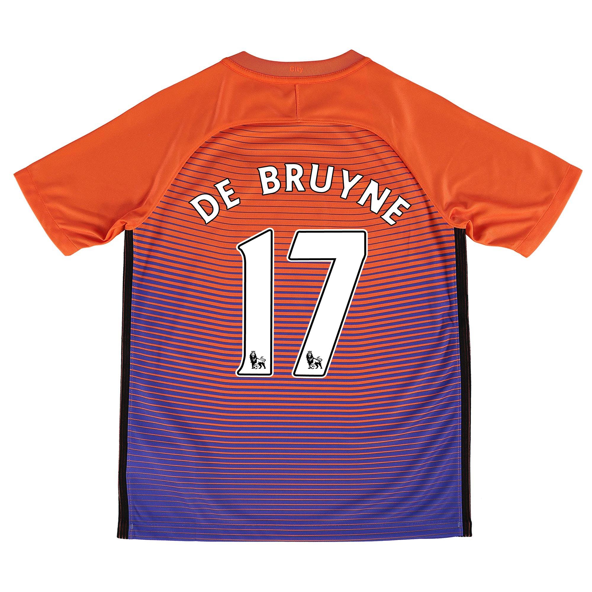 Manchester City Third Stadium Shirt 2016-17 - Kids with De Bruyne 17 p