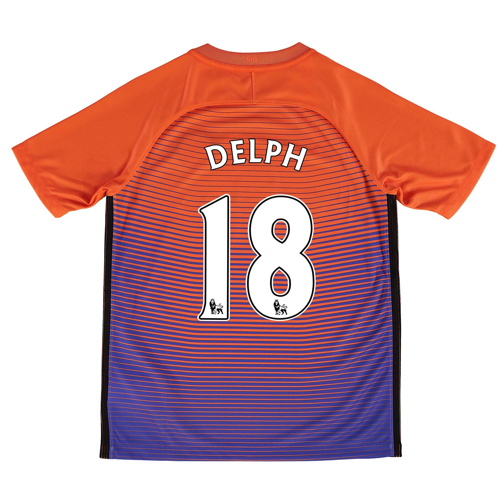 Manchester City Third Stadium Shirt 2016-17 - Kids with Delph 18 print