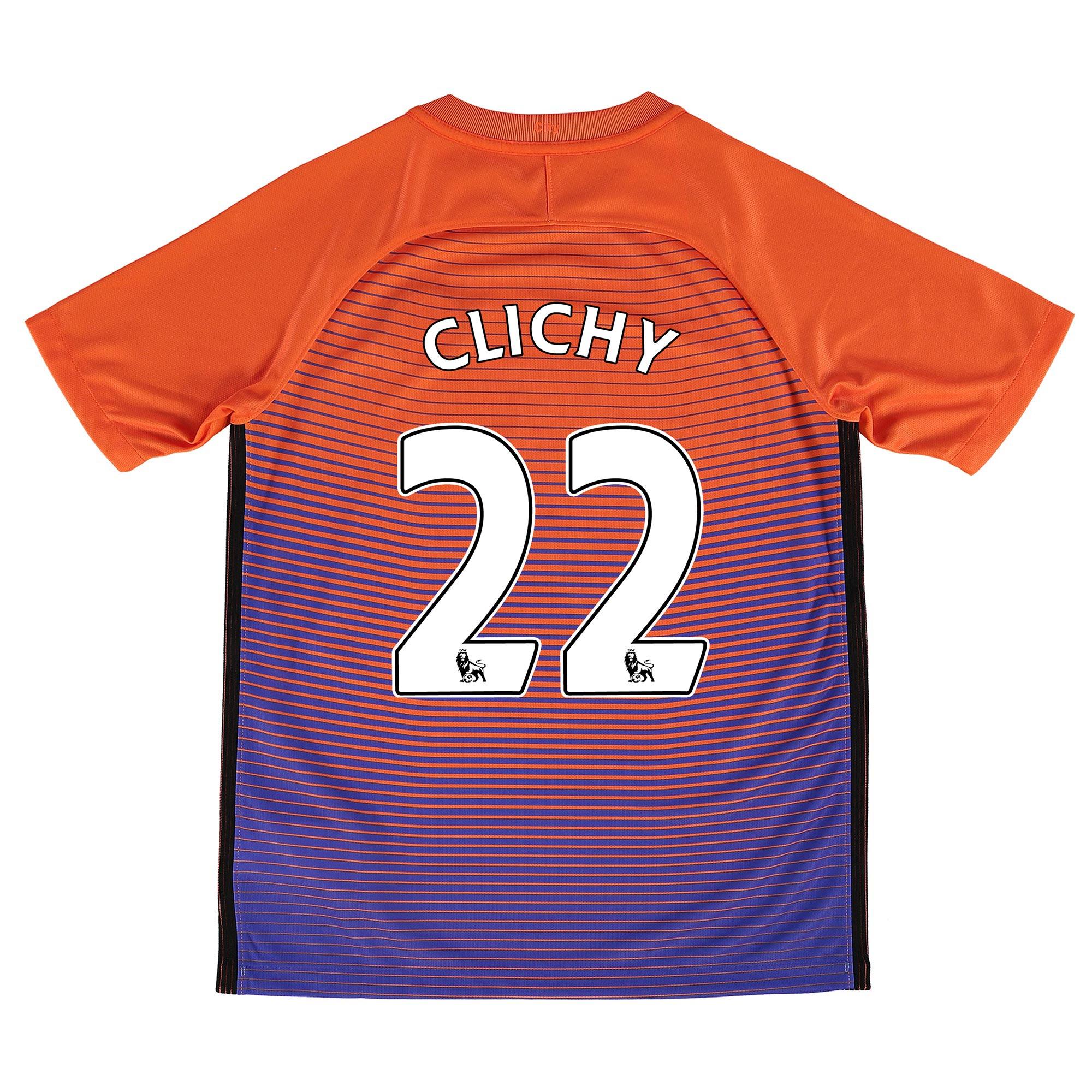 Manchester City Third Stadium Shirt 2016-17 - Kids with Clichy 22 prin