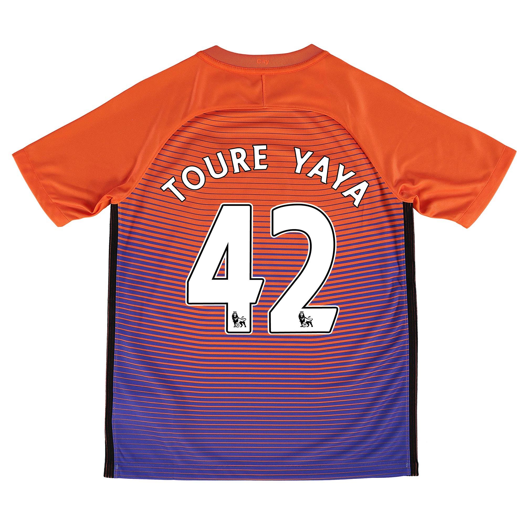 Manchester City Third Stadium Shirt 2016-17 - Kids with Toure Yaya 42