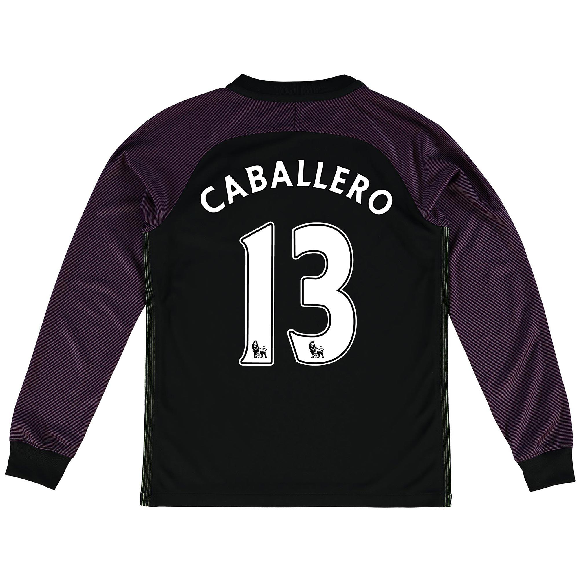 Manchester City Stadium Goalkeeper Shirt 2016-17 - Kids with Caballero