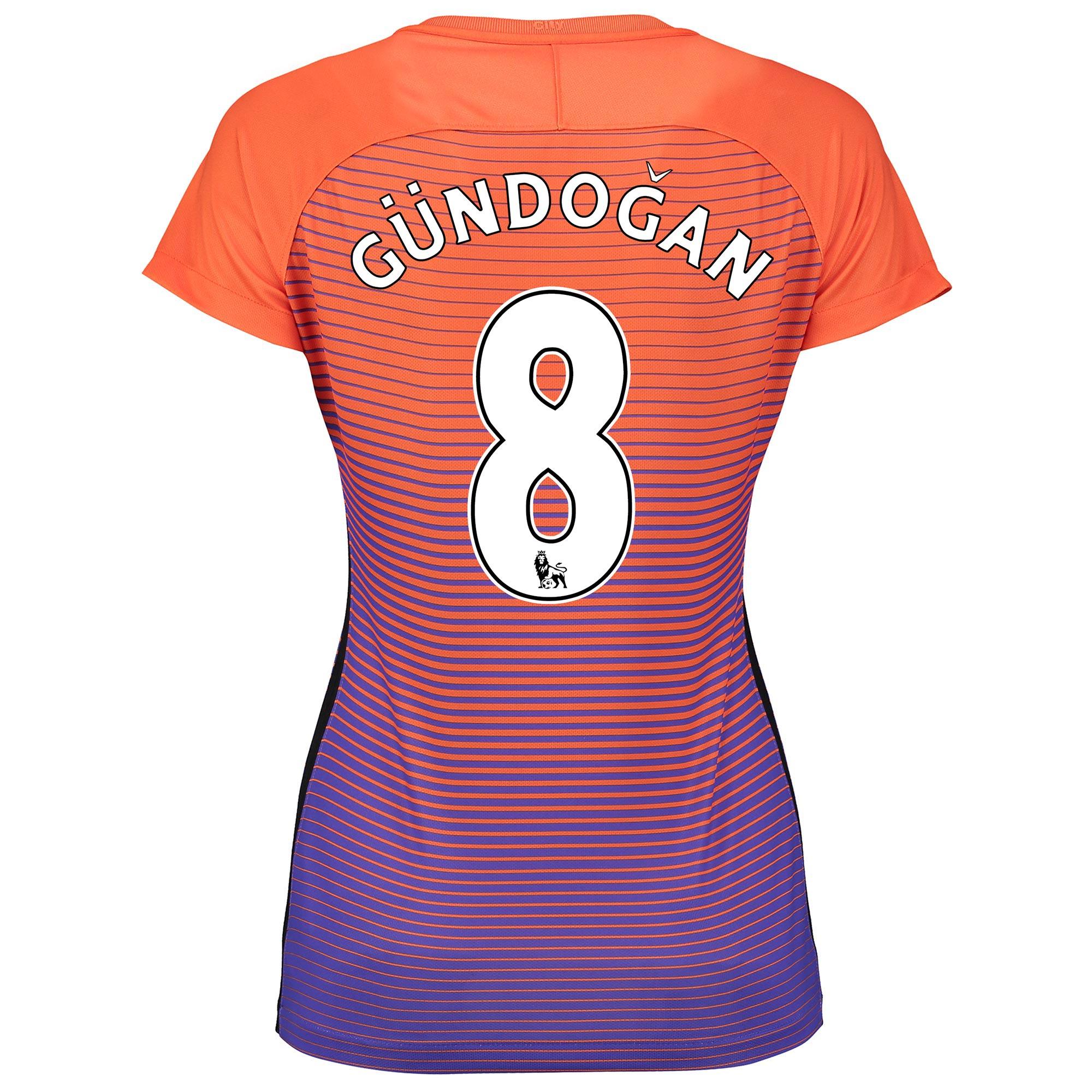 Manchester City Third Stadium Shirt 2016-17 - Womens with G??ndogan 8 p
