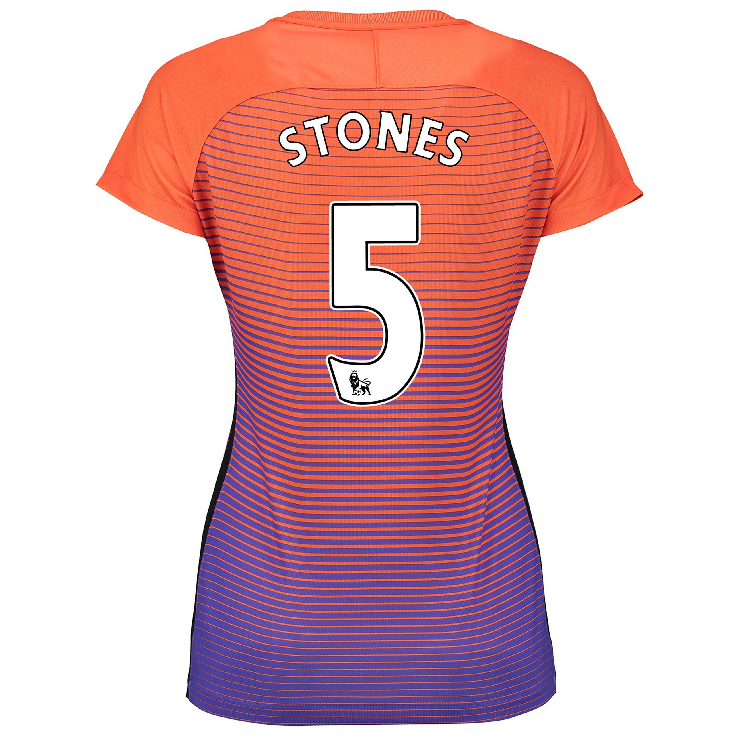 Manchester City Third Stadium Shirt 2016-17 - Womens with Stones 24 pr