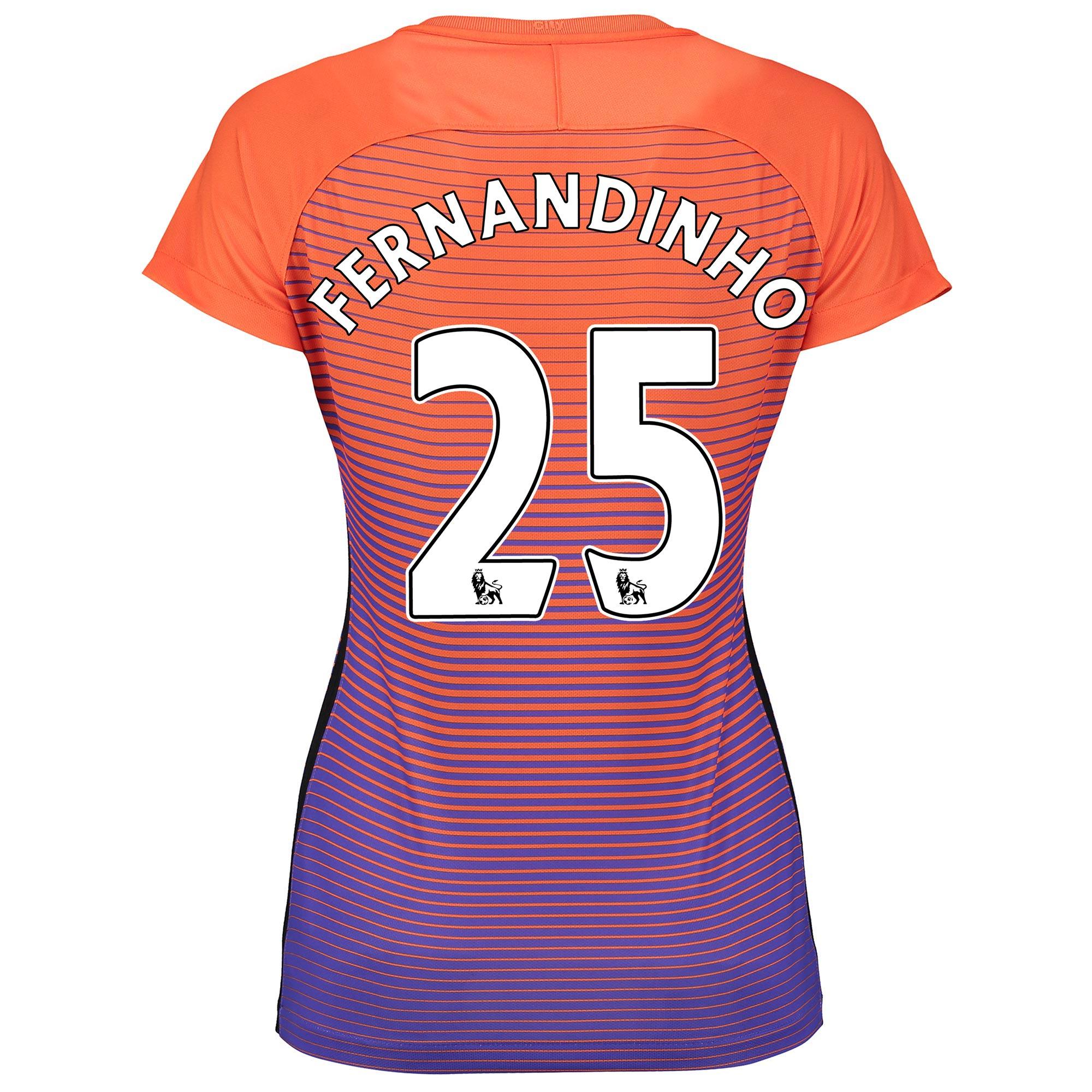 Manchester City Third Stadium Shirt 2016-17 - Womens with Fernandinho