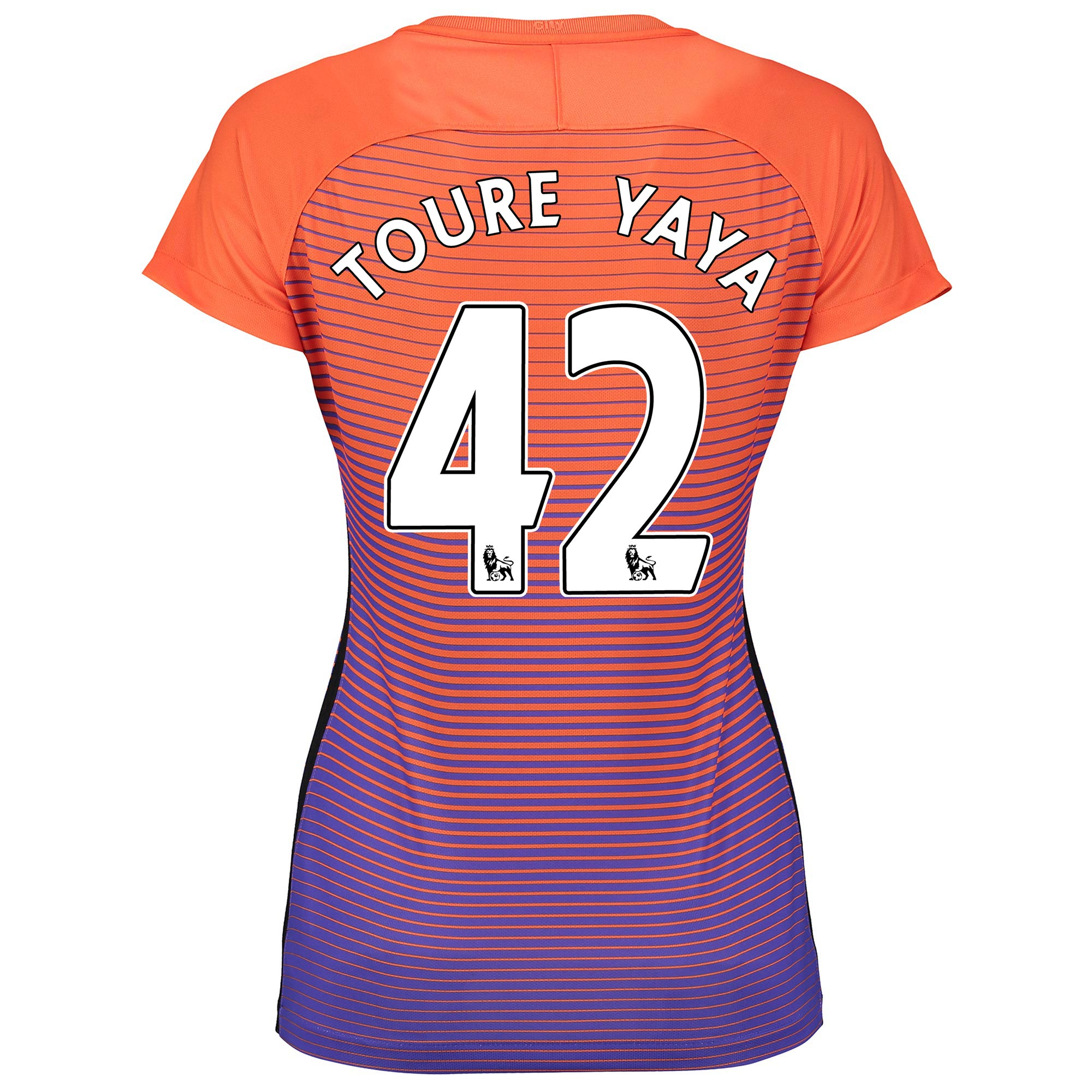 Manchester City Third Stadium Shirt 2016-17 - Womens with Toure Yaya 4