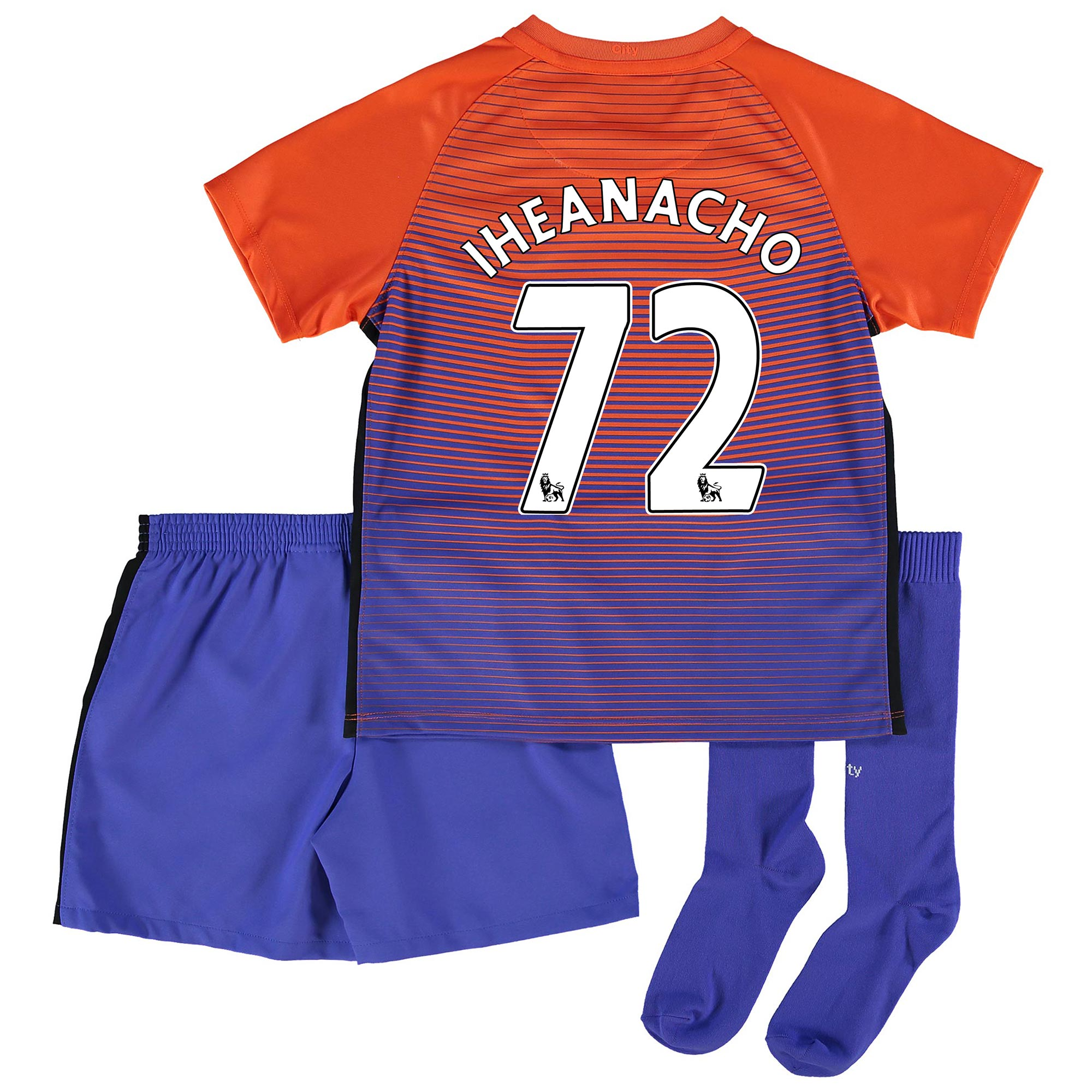 Manchester City Third Stadium Kit 2016-17 - Little Kids with Iheanacho