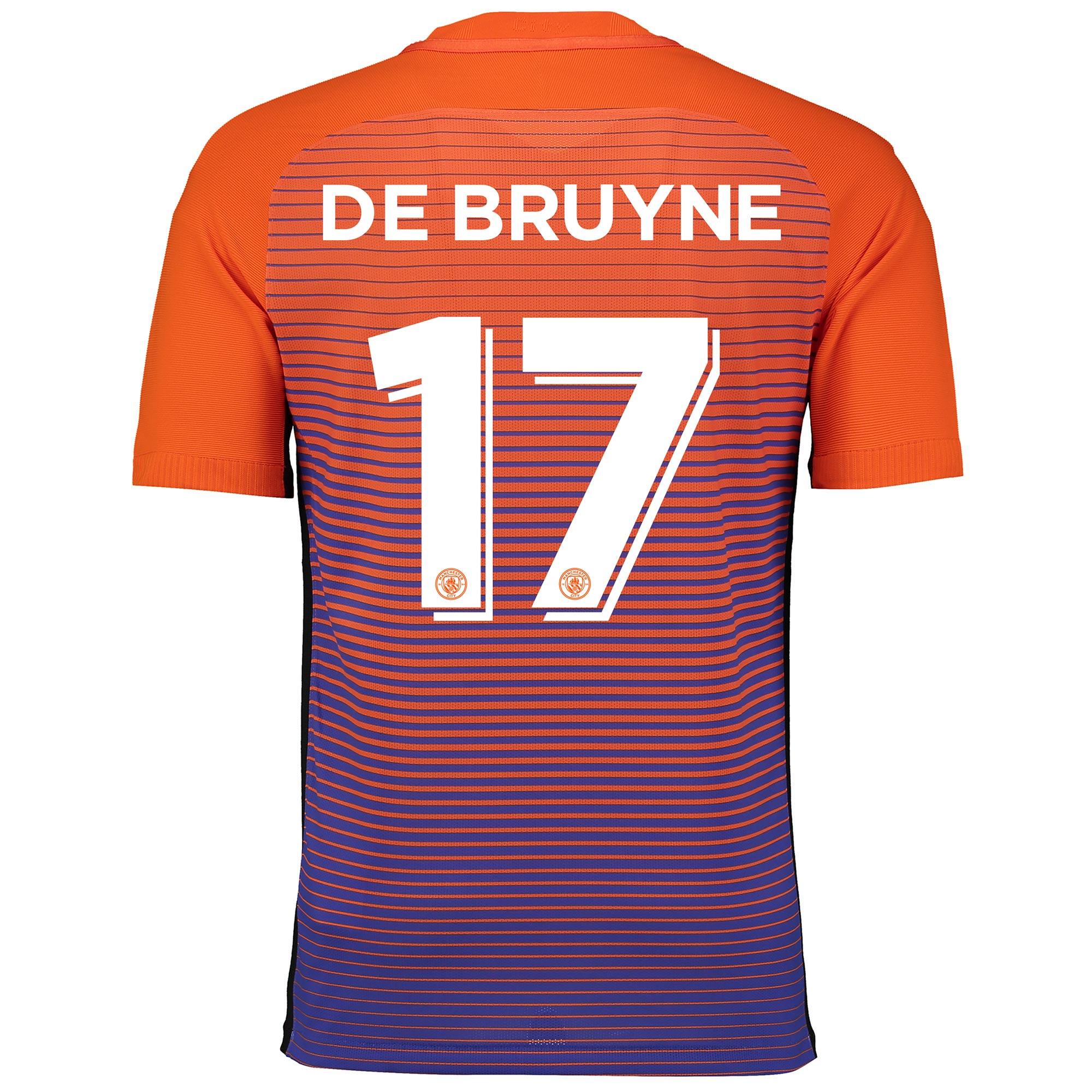 Manchester City Third Cup Vapor Match Shirt 2016-17 with De Bruyne 17