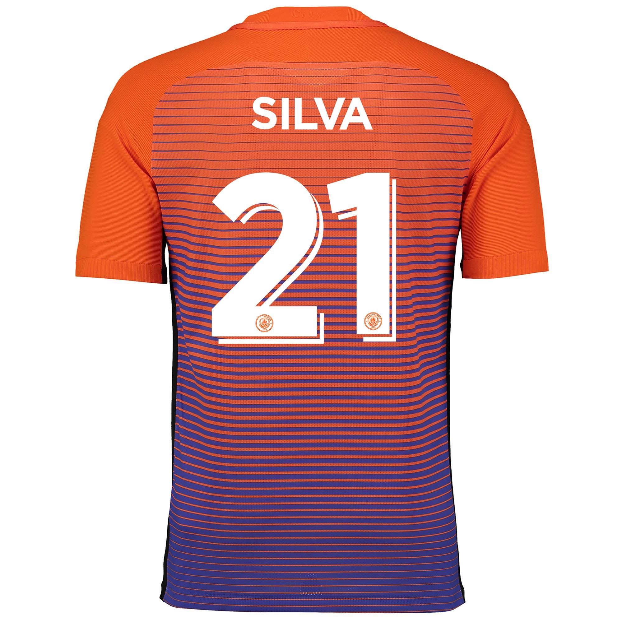 Manchester City Third Cup Vapor Match Shirt 2016-17 with Silva 21 prin