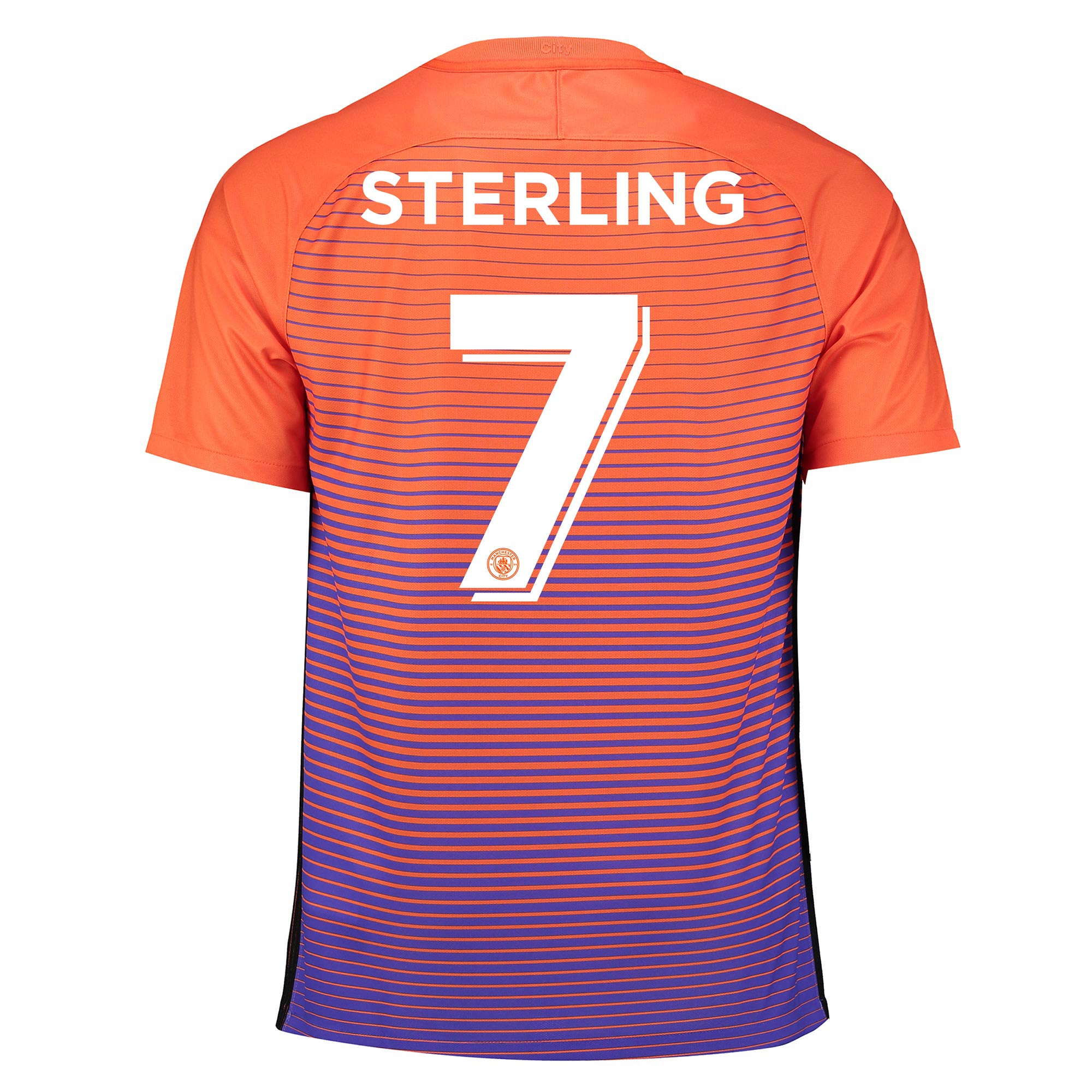 Manchester City Third Cup Stadium Shirt 2016-17 with Sterling 7 printi