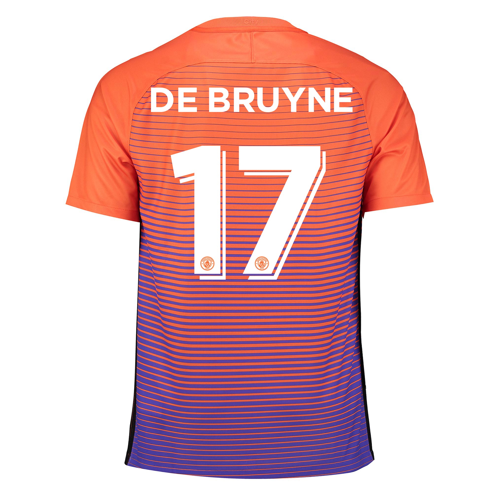 Manchester City Third Cup Stadium Shirt 2016-17 with De Bruyne 17 prin