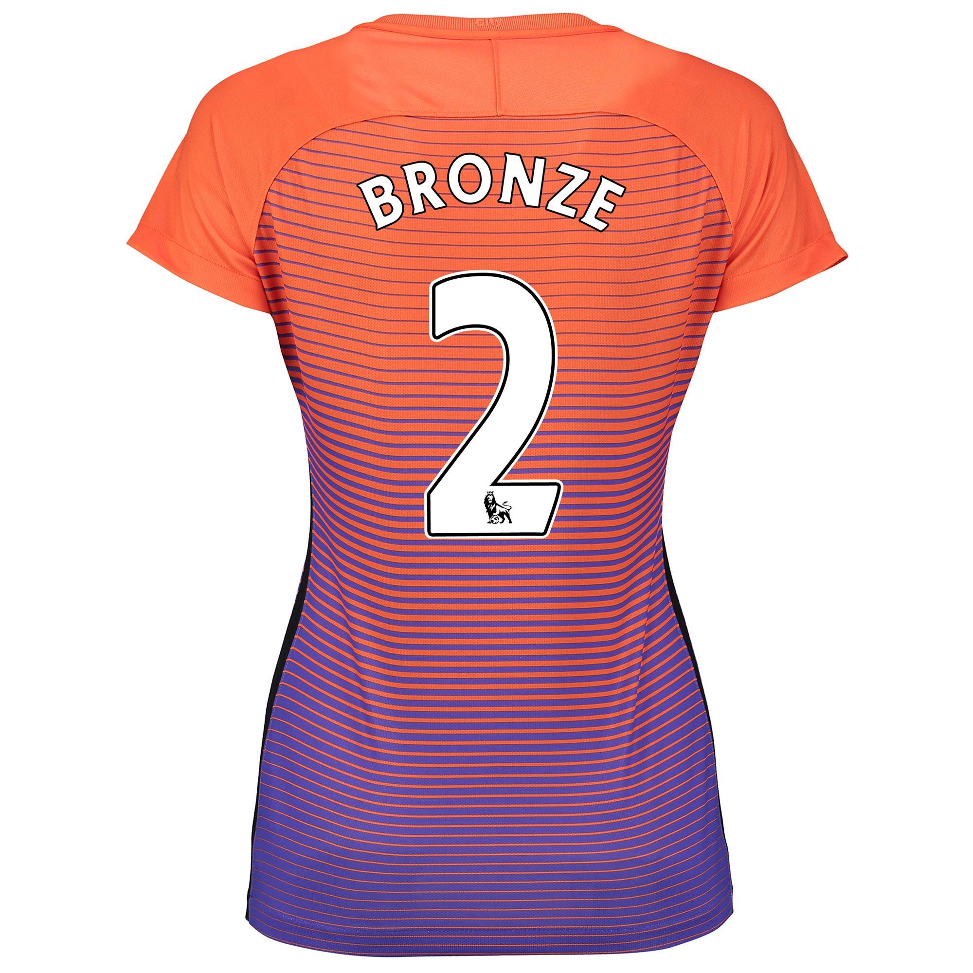 Manchester City Third Stadium Shirt 2016-17 - Womens with Bronze 2 pri