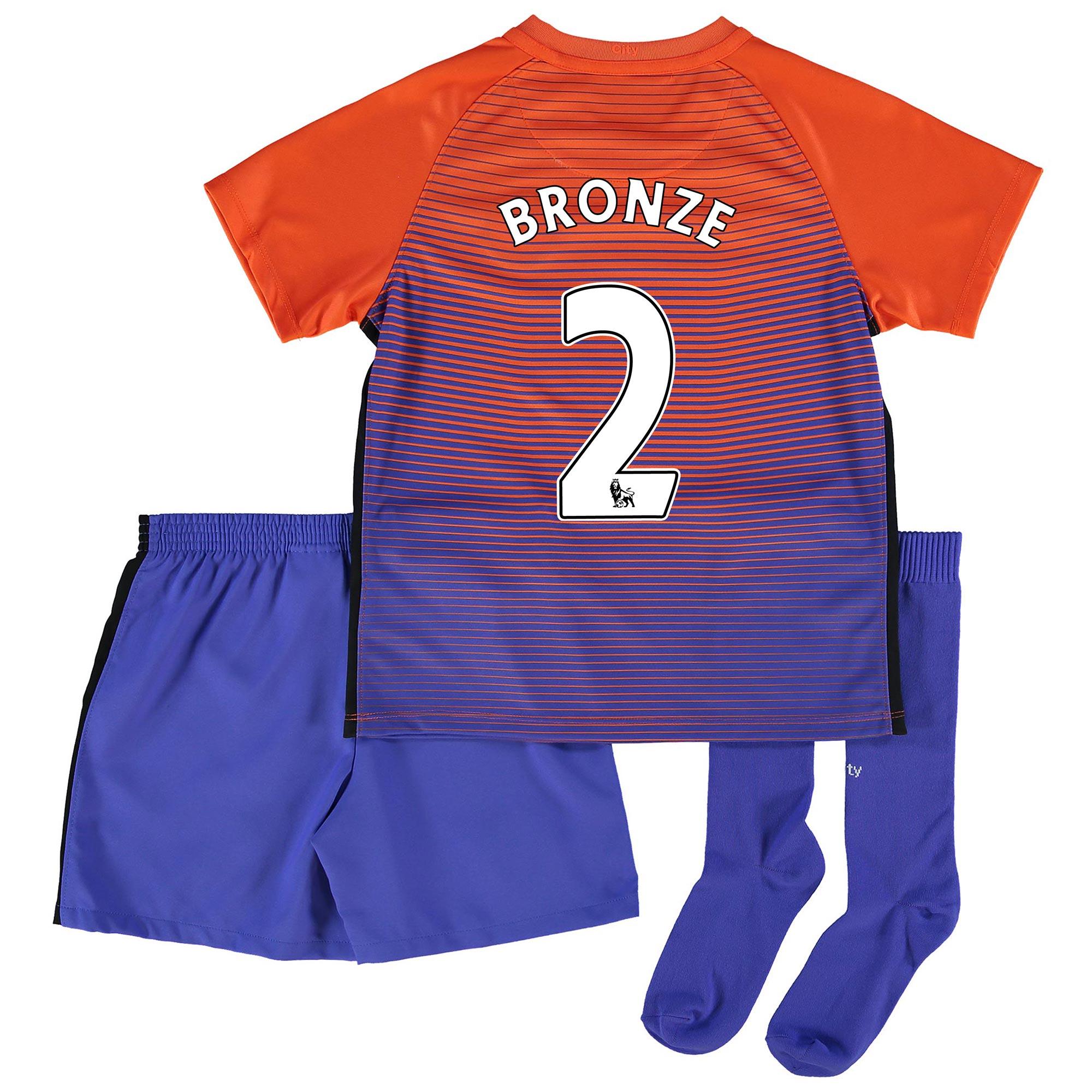 Manchester City Third Stadium Kit 2016-17 - Little Kids with Bronze 2