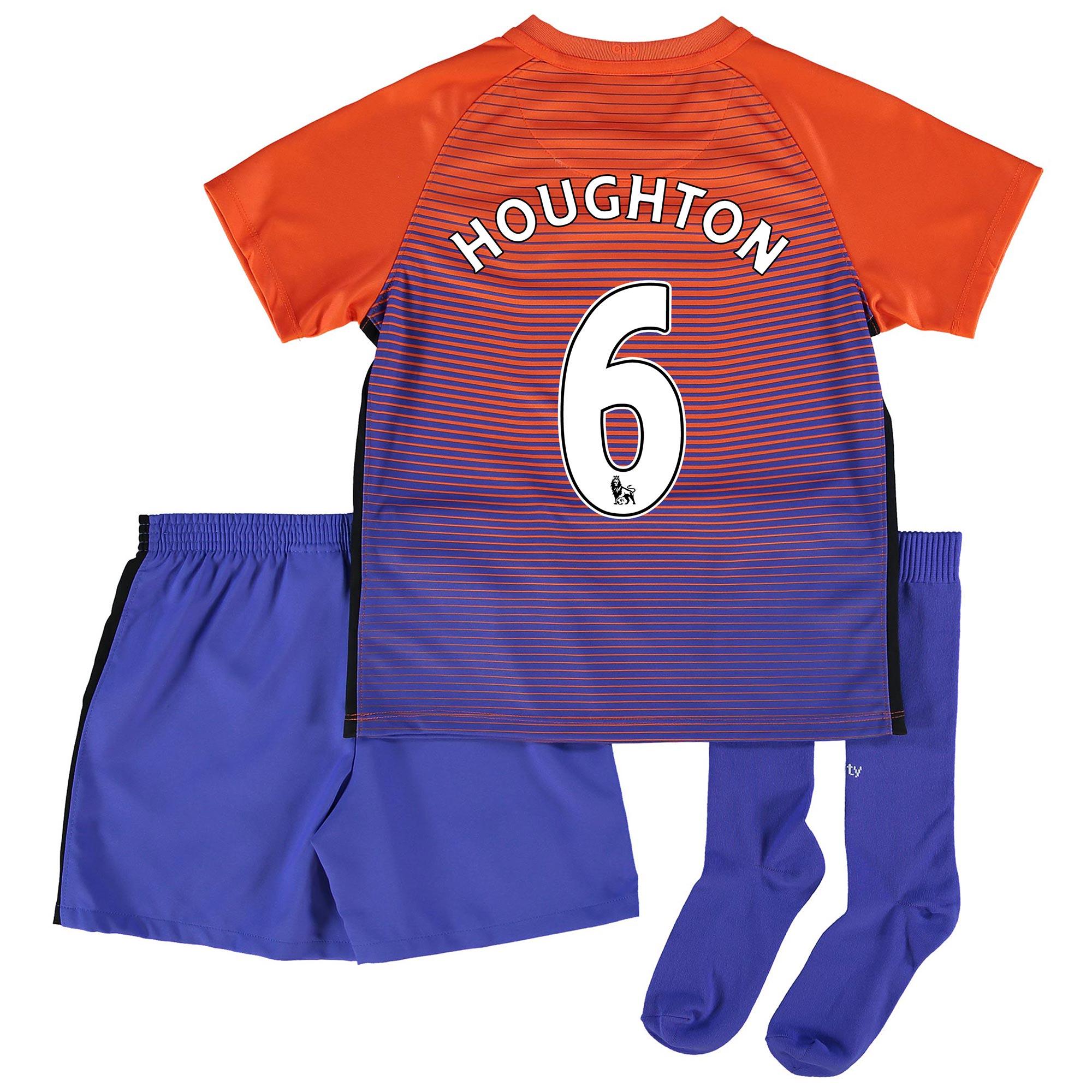 Manchester City Third Stadium Kit 2016-17 - Little Kids with Houghton