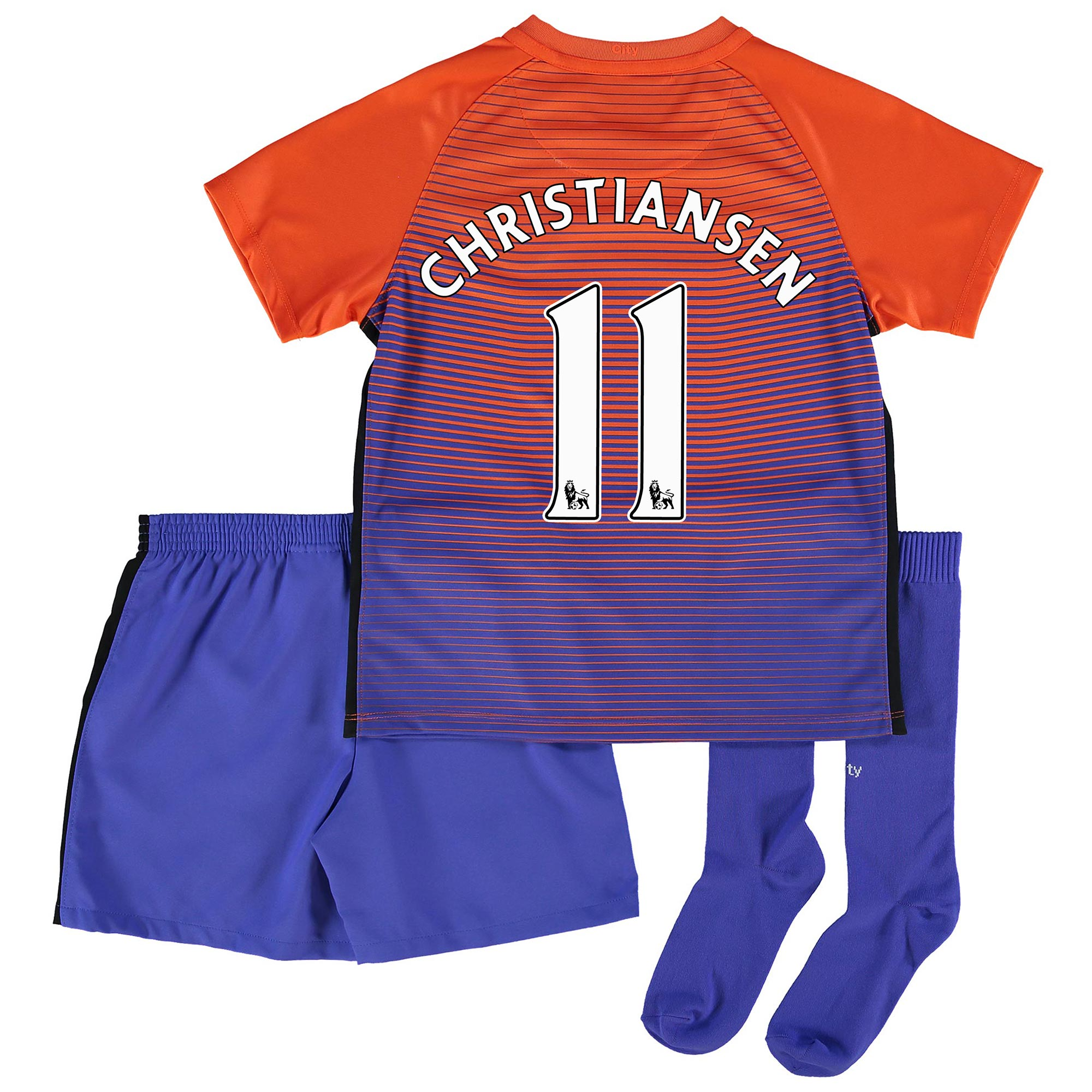 Manchester City Third Stadium Kit 2016-17 - Little Kids with Christian